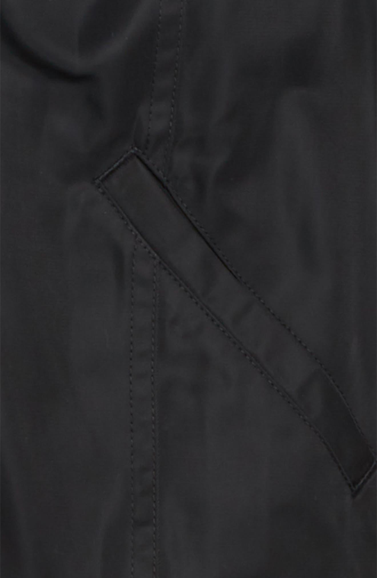 Ruched Shoulder Shine Bomber Jacket,                             Alternate thumbnail 2, color,                             001