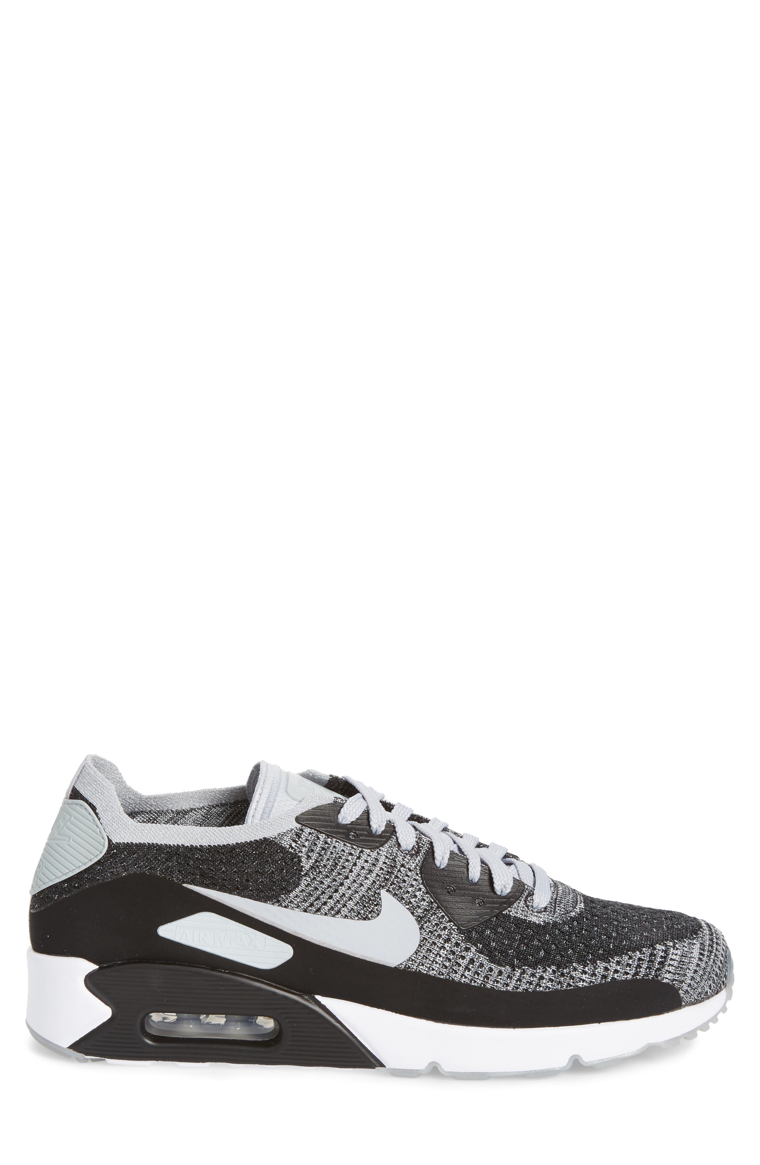 Air Max 90 Ultra 2.0 Flyknit Sneaker,                             Alternate thumbnail 3, color,                             005