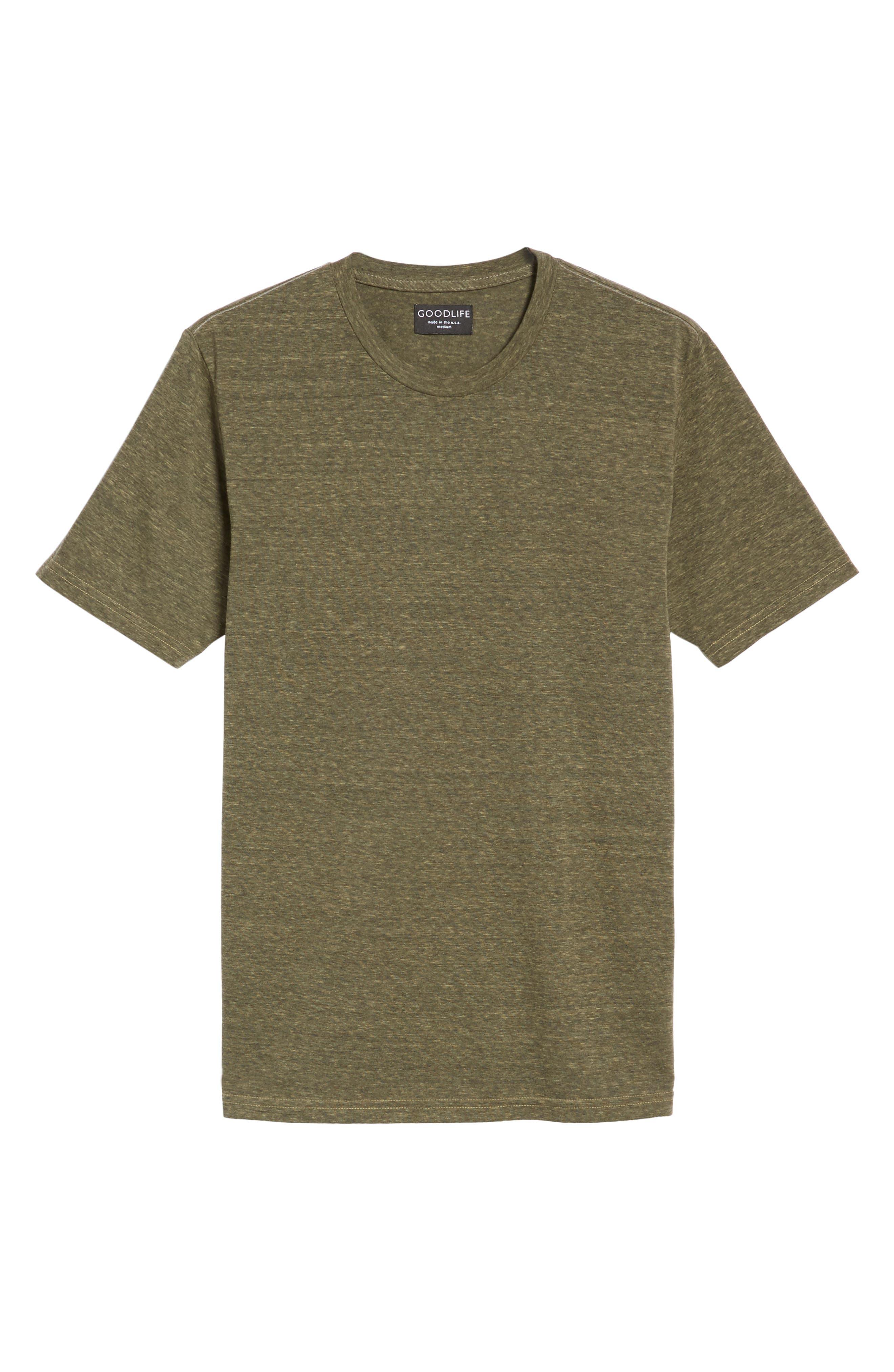 Crewneck Heathered T-Shirt,                             Alternate thumbnail 6, color,                             313