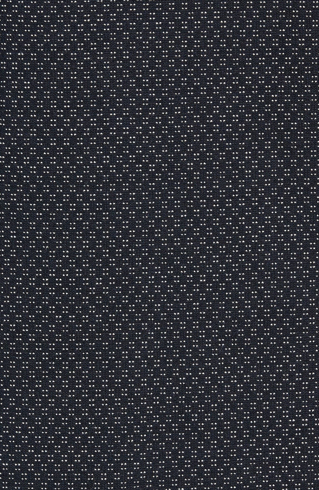 Trim Micro Foulard Polo Shirt,                             Alternate thumbnail 5, color,                             NAVY