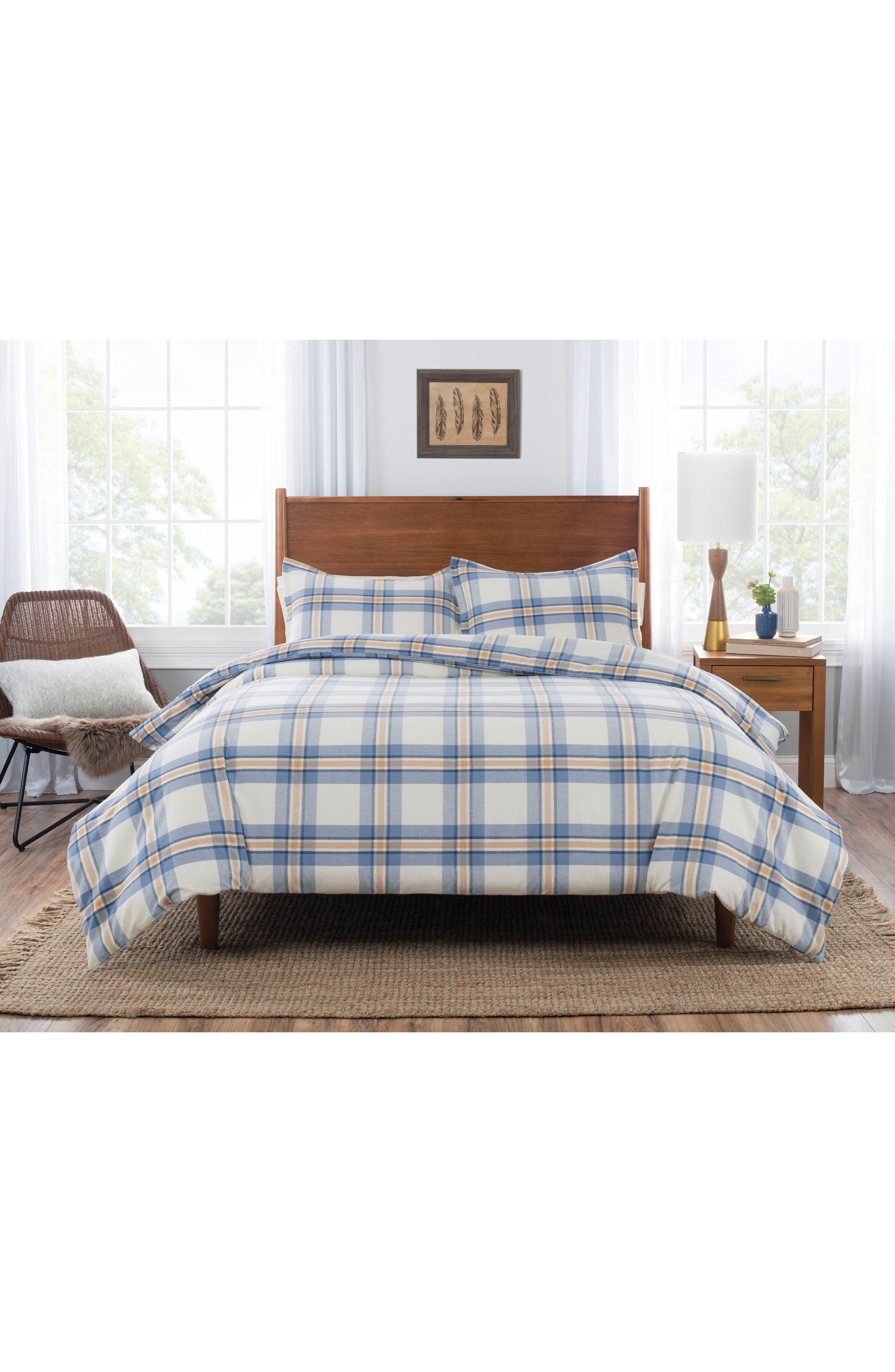 Pinecrest Comforter & Sham Set,                         Main,                         color, BLUE/ GOLD