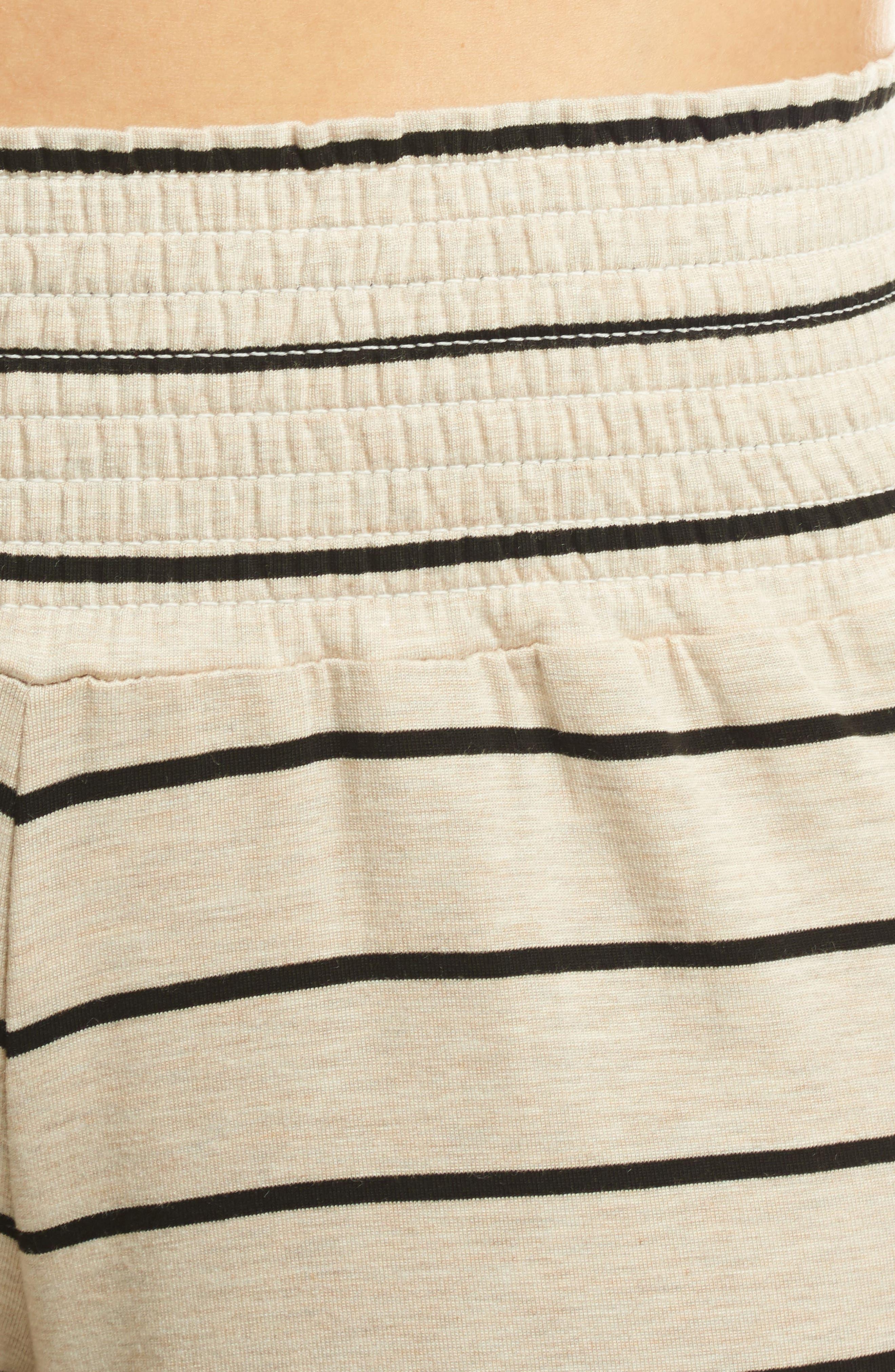 Roxanne - During & After 5-Piece Maternity Sleepwear Set,                             Alternate thumbnail 4, color,                             SAND STRIPE