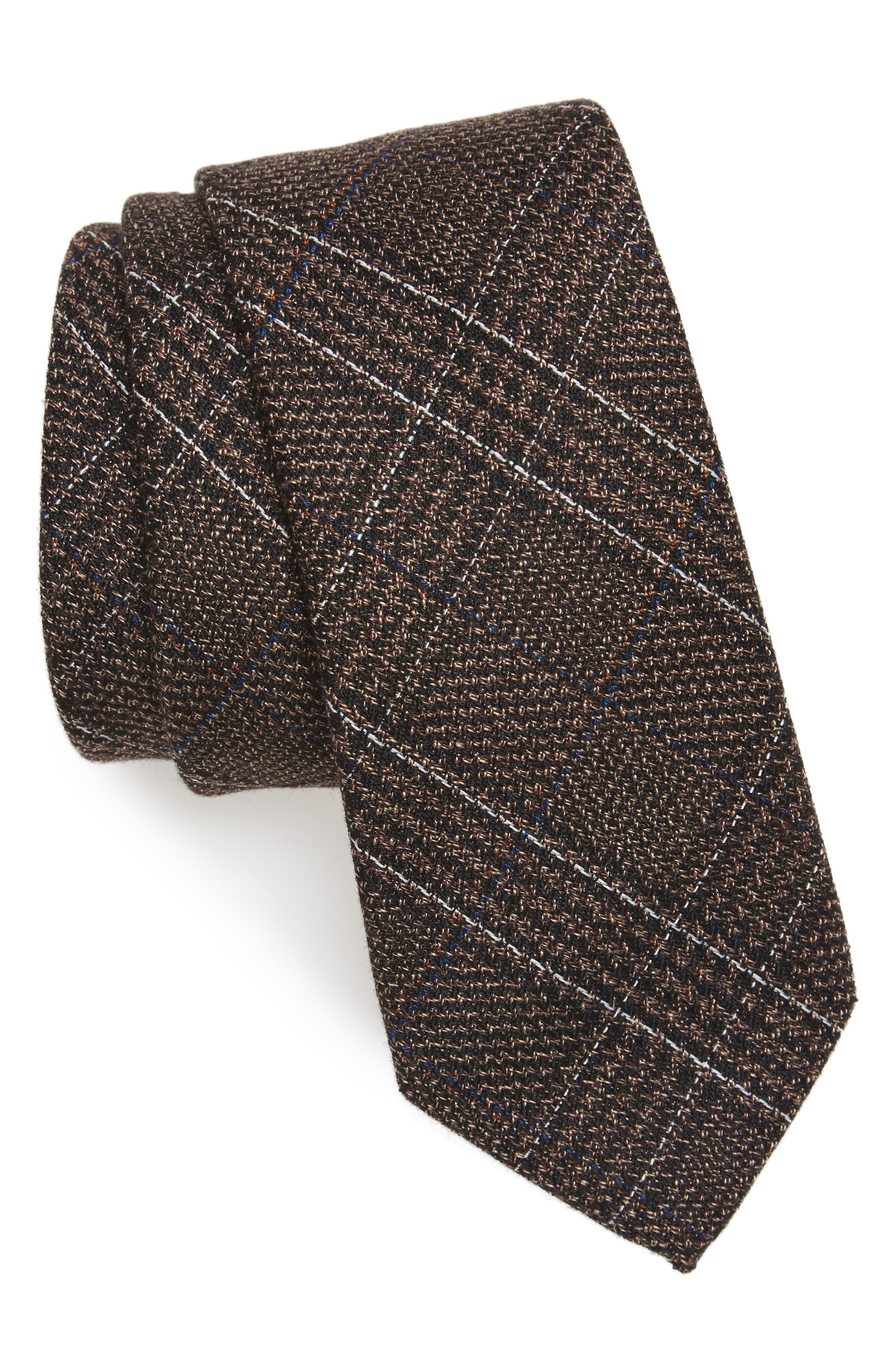 Eastview Check Skinny Tie,                             Main thumbnail 1, color,