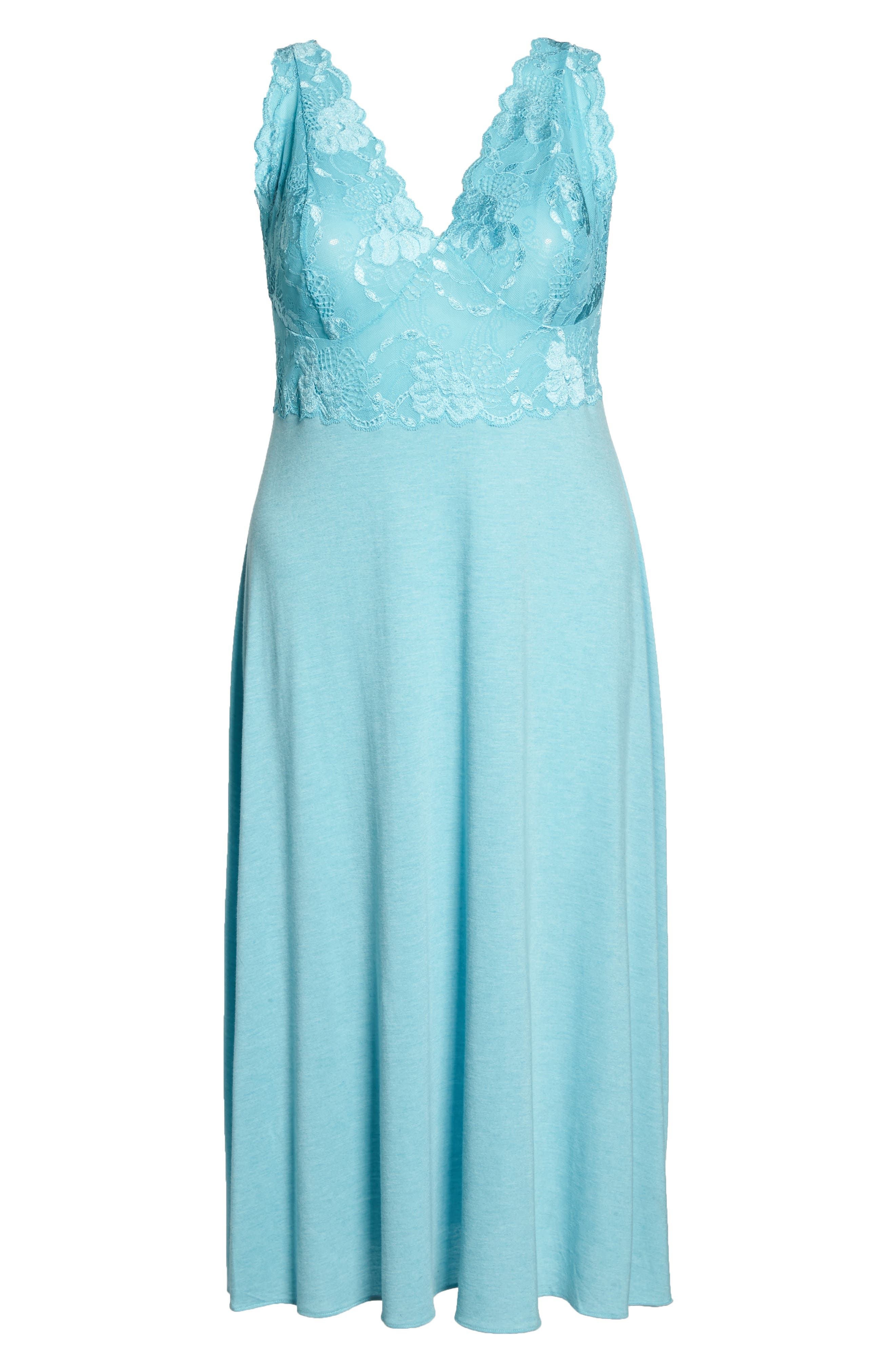'Zen Floral' Nightgown,                             Alternate thumbnail 6, color,                             420
