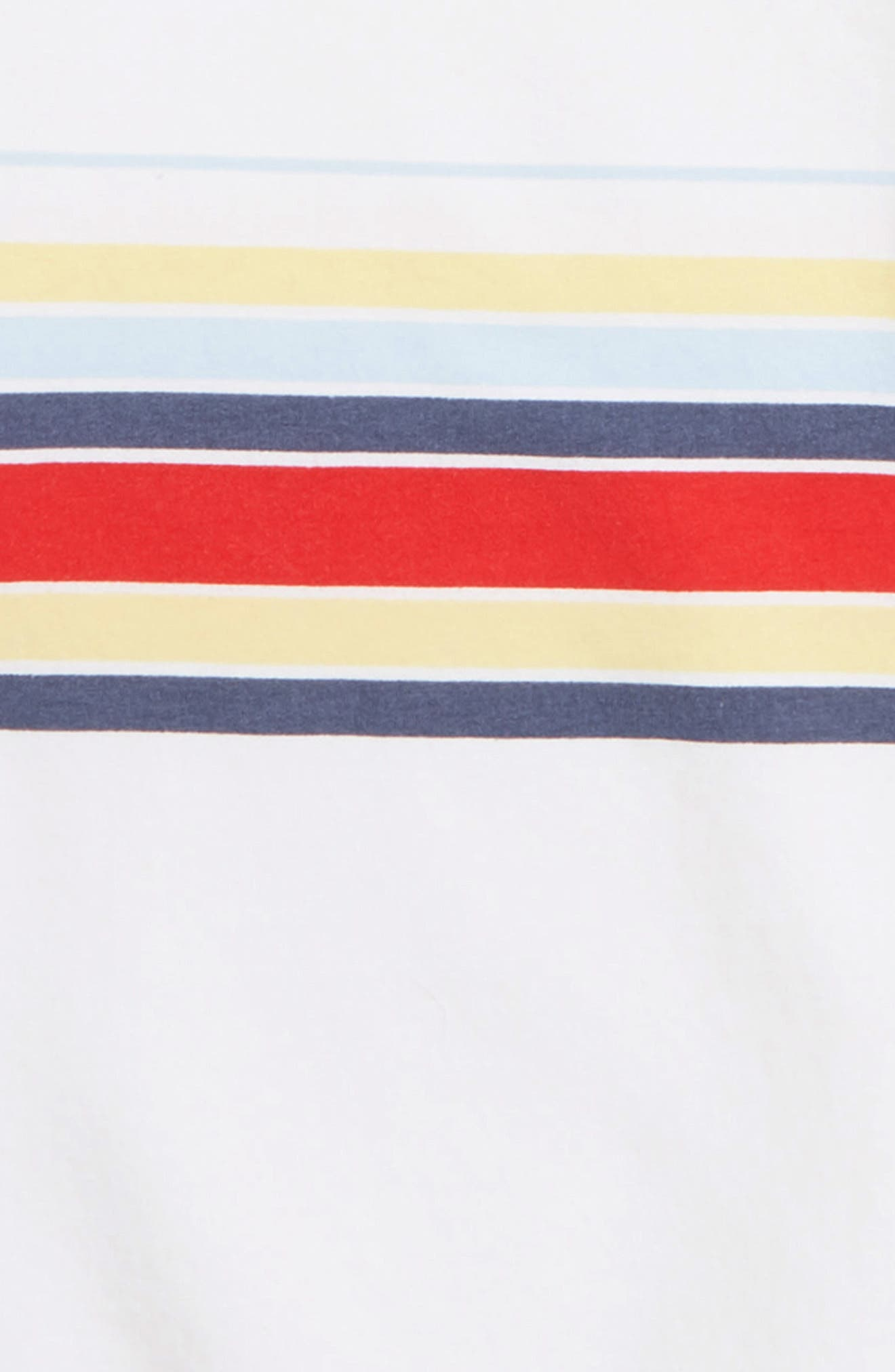 TREASURE & BOND,                             Oversized Sweatshirt,                             Alternate thumbnail 2, color,                             WHITE MALIBU STRIPE