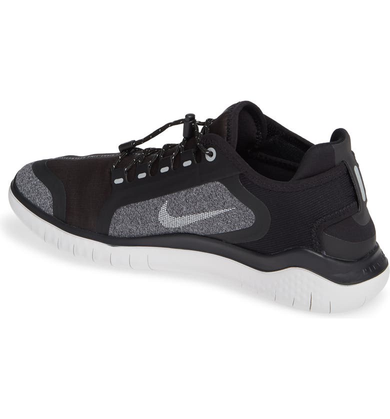 a0a7092533d Nike Men S Free Rn 2018 Shield Running Sneakers From Finish Line In Black Metallic  Silver