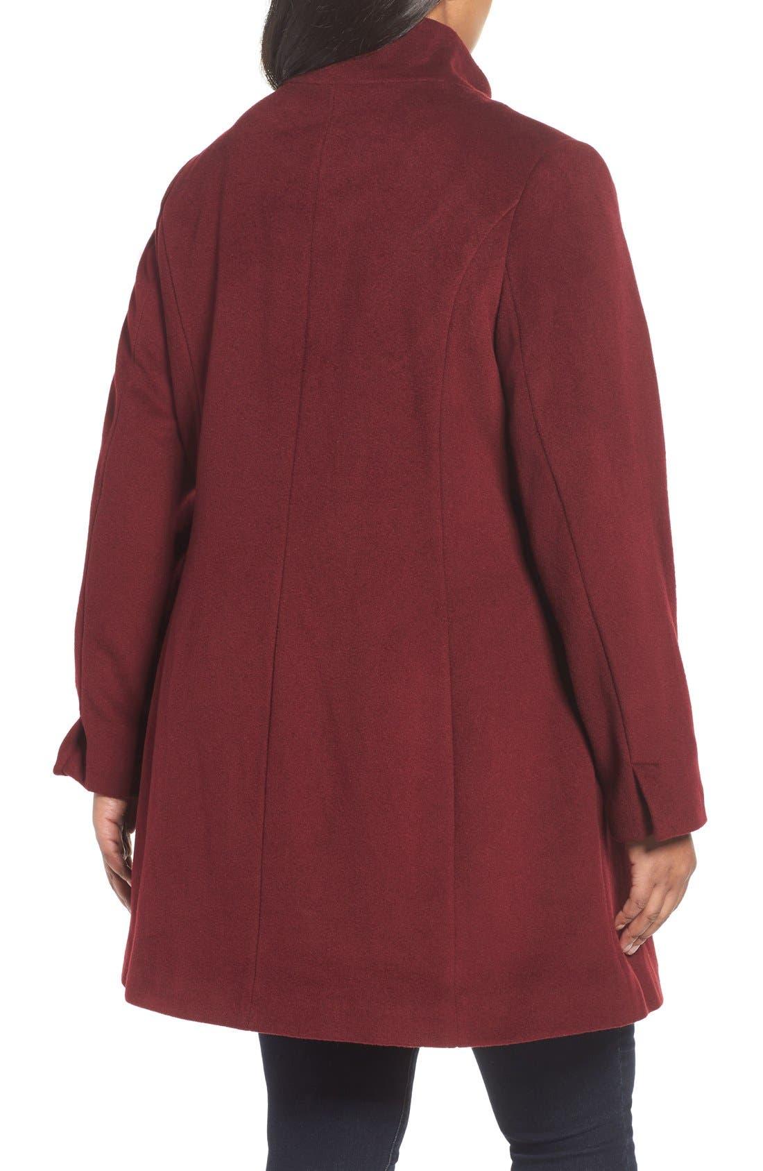 Kate Ruffle Wool Blend Coat,                             Alternate thumbnail 8, color,