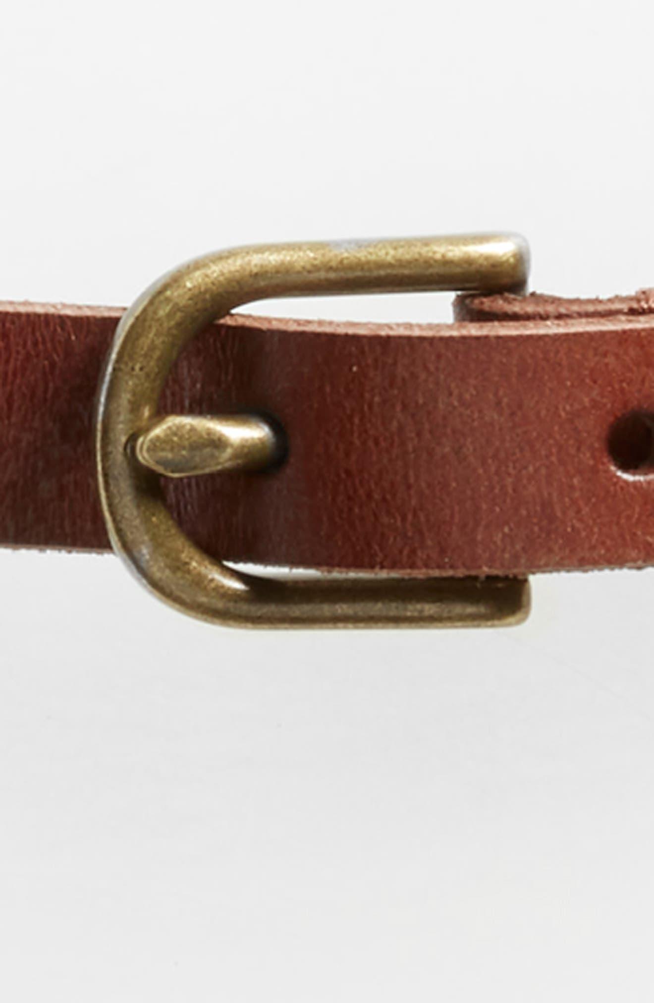 Mesh Inset Skinny Belt,                             Alternate thumbnail 6, color,