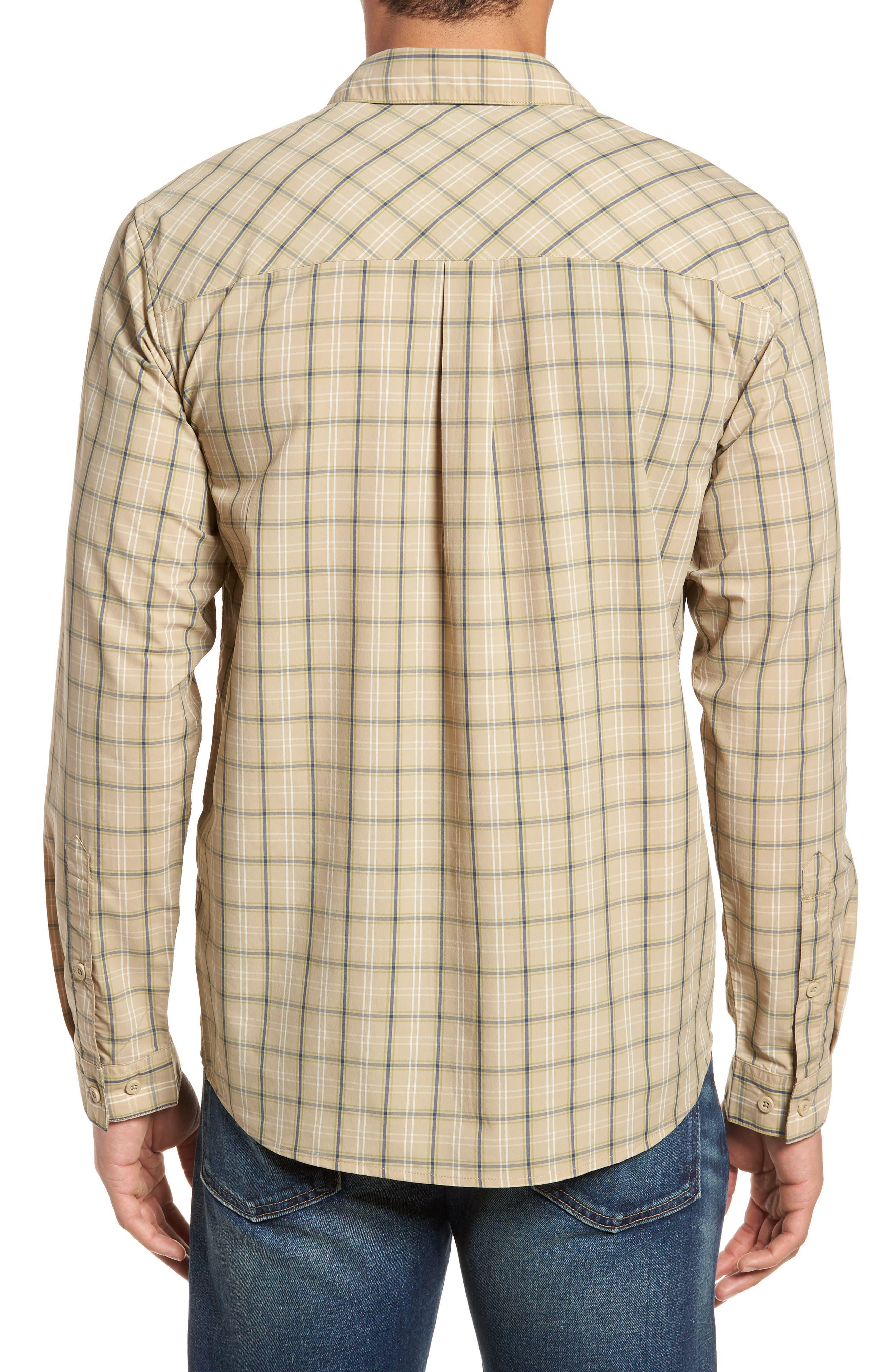 M's High Moss Plaid Sport Shirt,                             Alternate thumbnail 2, color,                             EL CAP KHAKI
