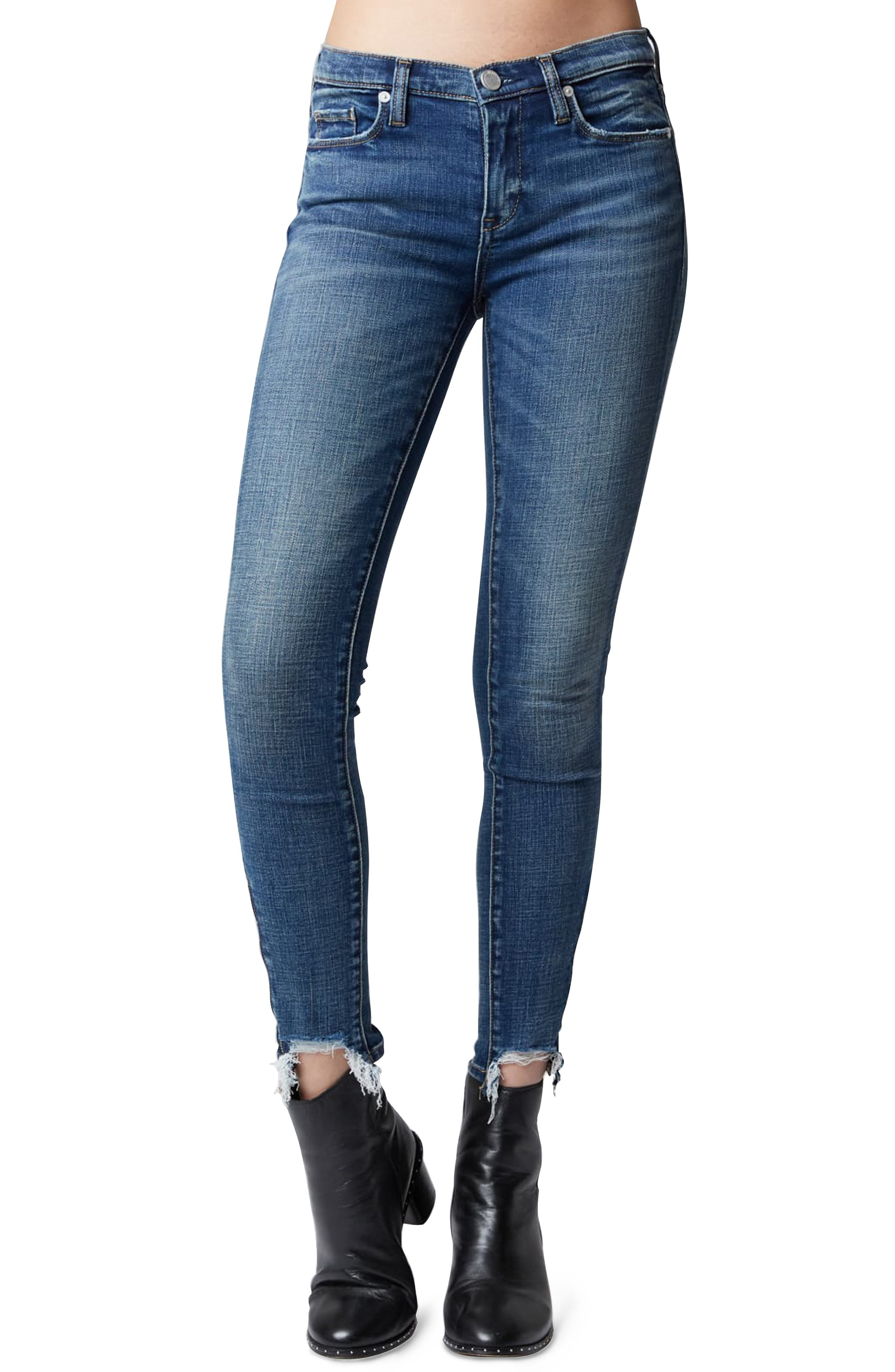The Reade Stagger Hem Skinny Jeans,                             Main thumbnail 1, color,                             INTEROFFICE