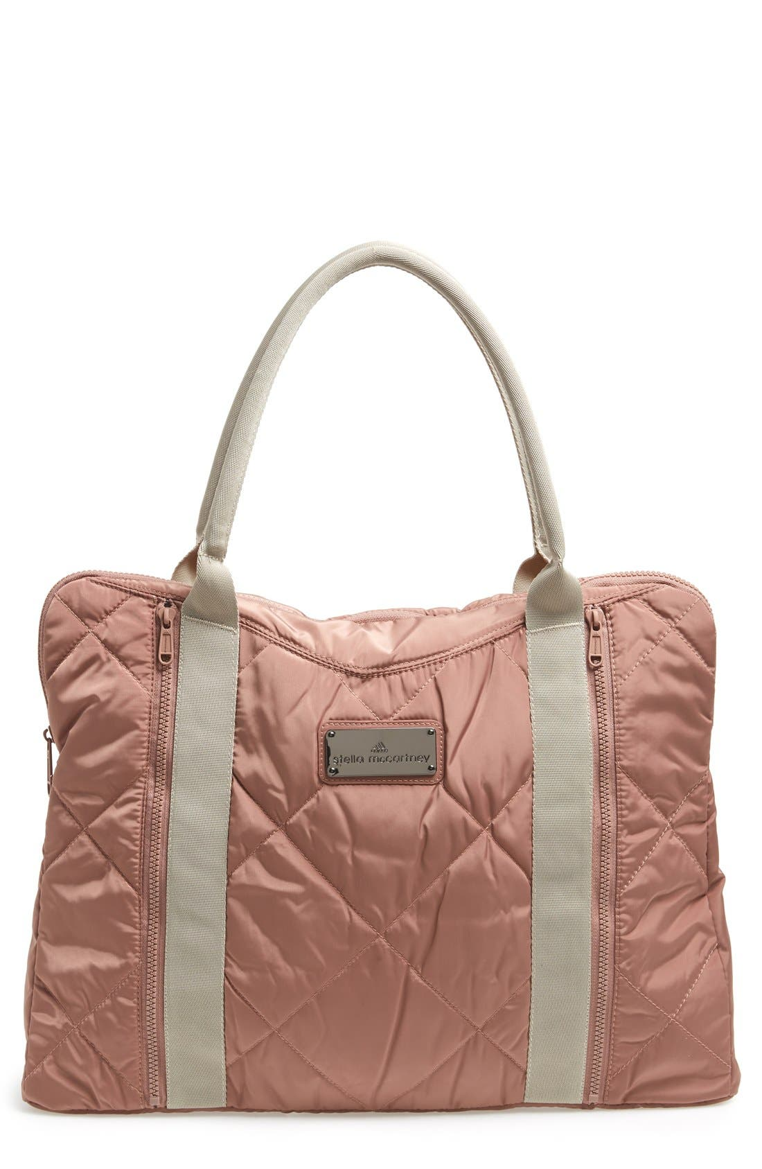 ADIDAS BY STELLA MCCARTNEY,                             Quilted Yoga Bag,                             Main thumbnail 1, color,                             250