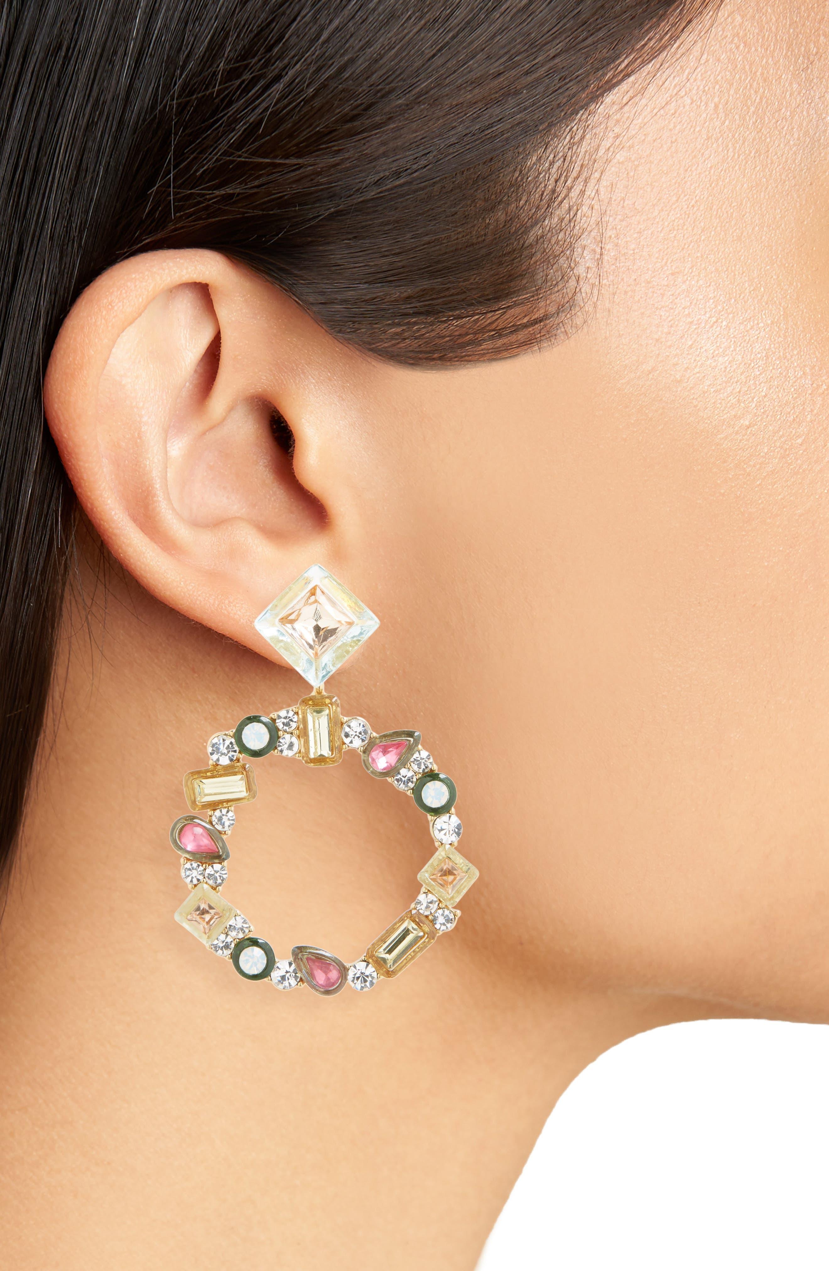Leora Hoop Earrings,                             Alternate thumbnail 2, color,                             650