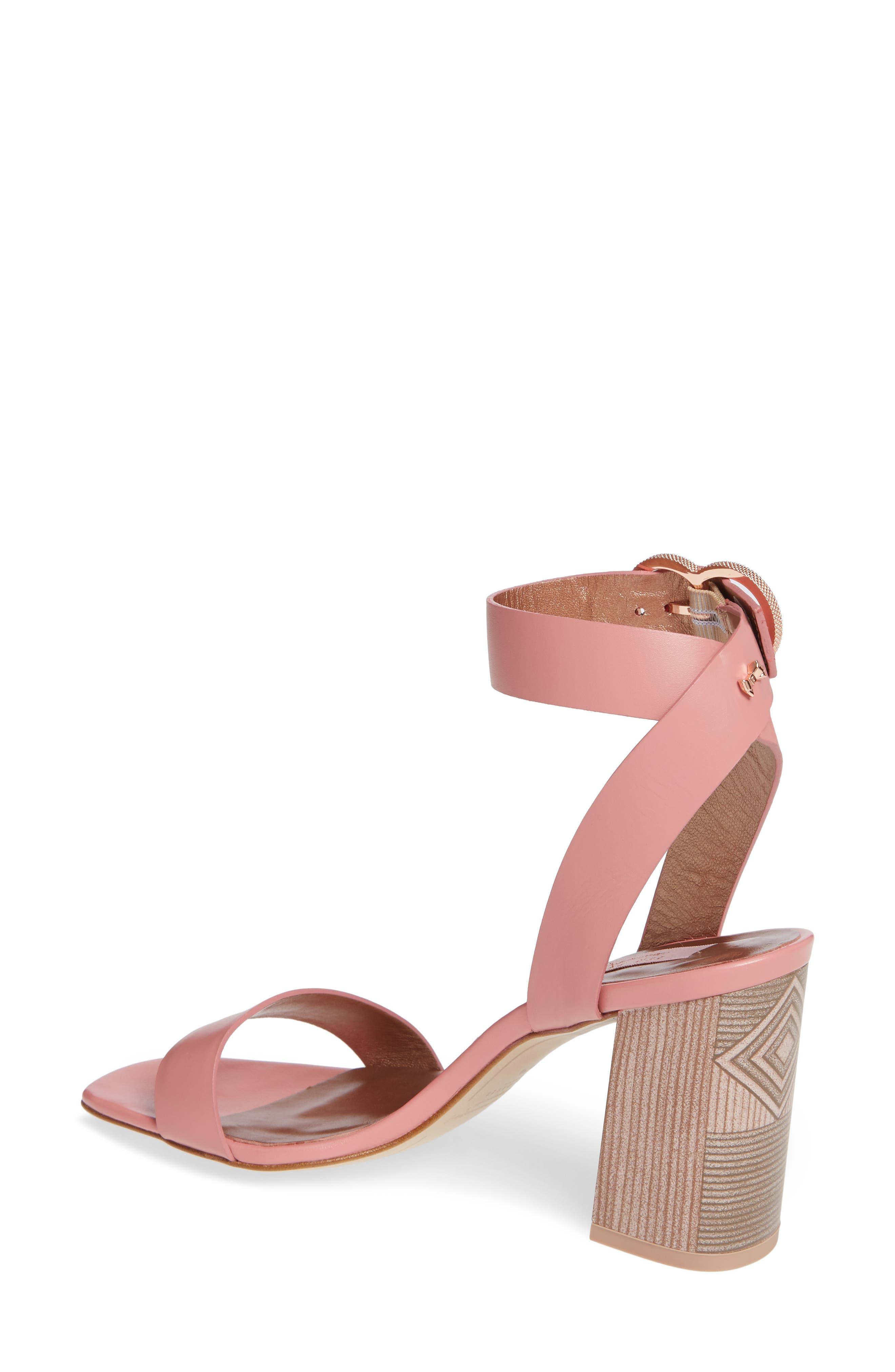 Vallama Block Heel Sandal,                             Alternate thumbnail 2, color,                             PINK LEATHER