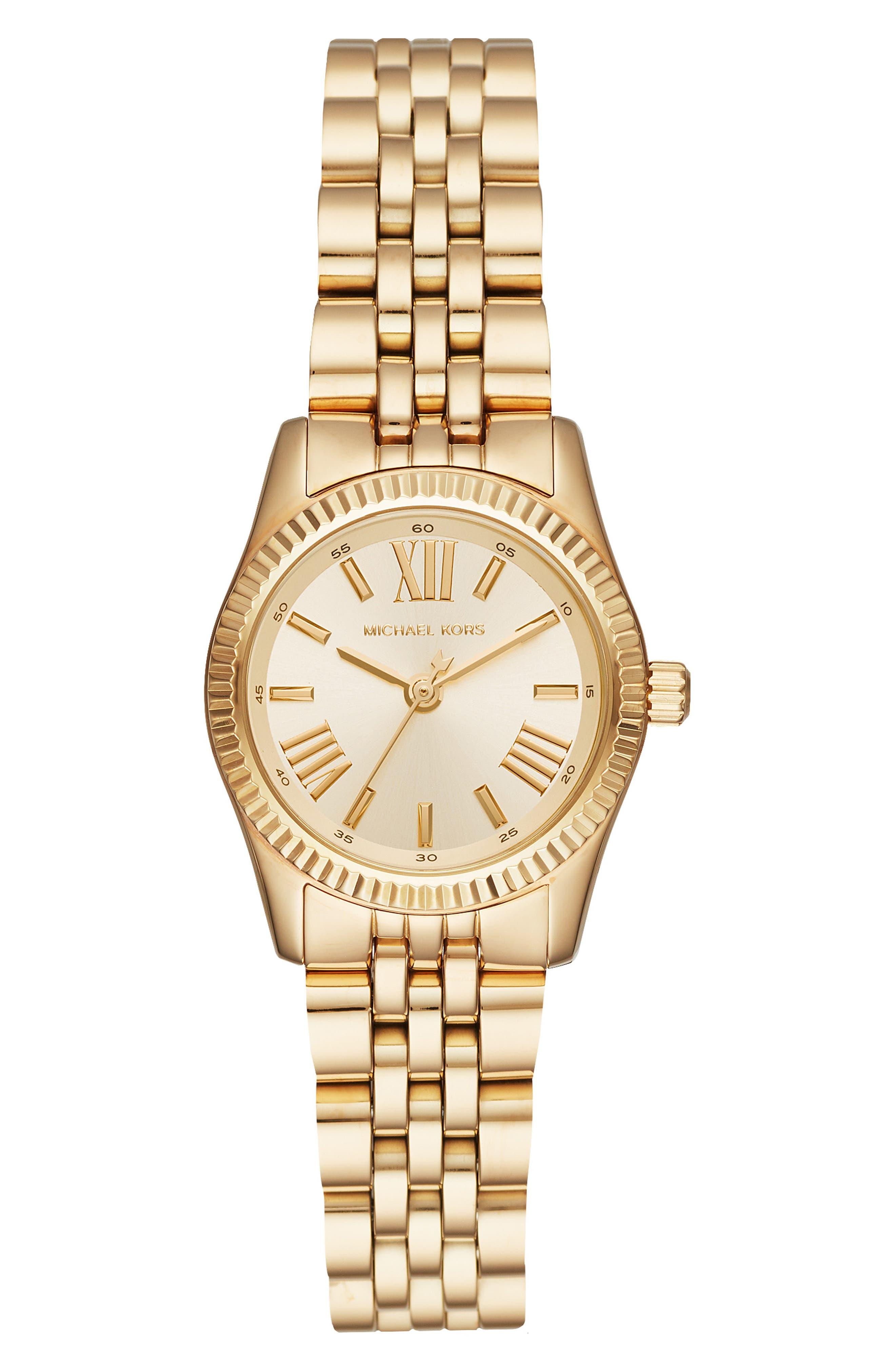Lexington Bracelet Watch, 26mm,                         Main,                         color, GOLD