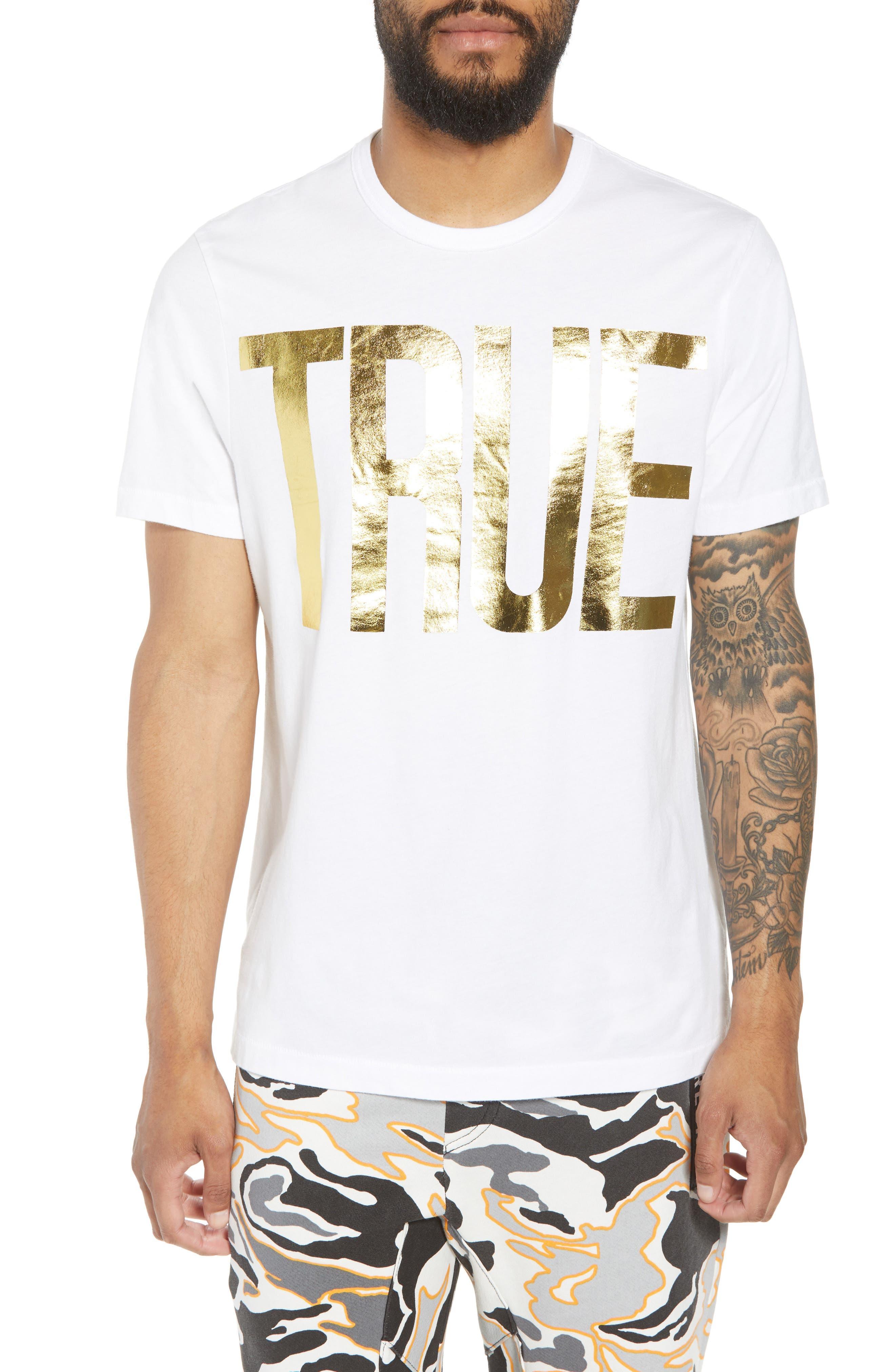 Gold Foil Logo T-Shirt,                             Main thumbnail 2, color,