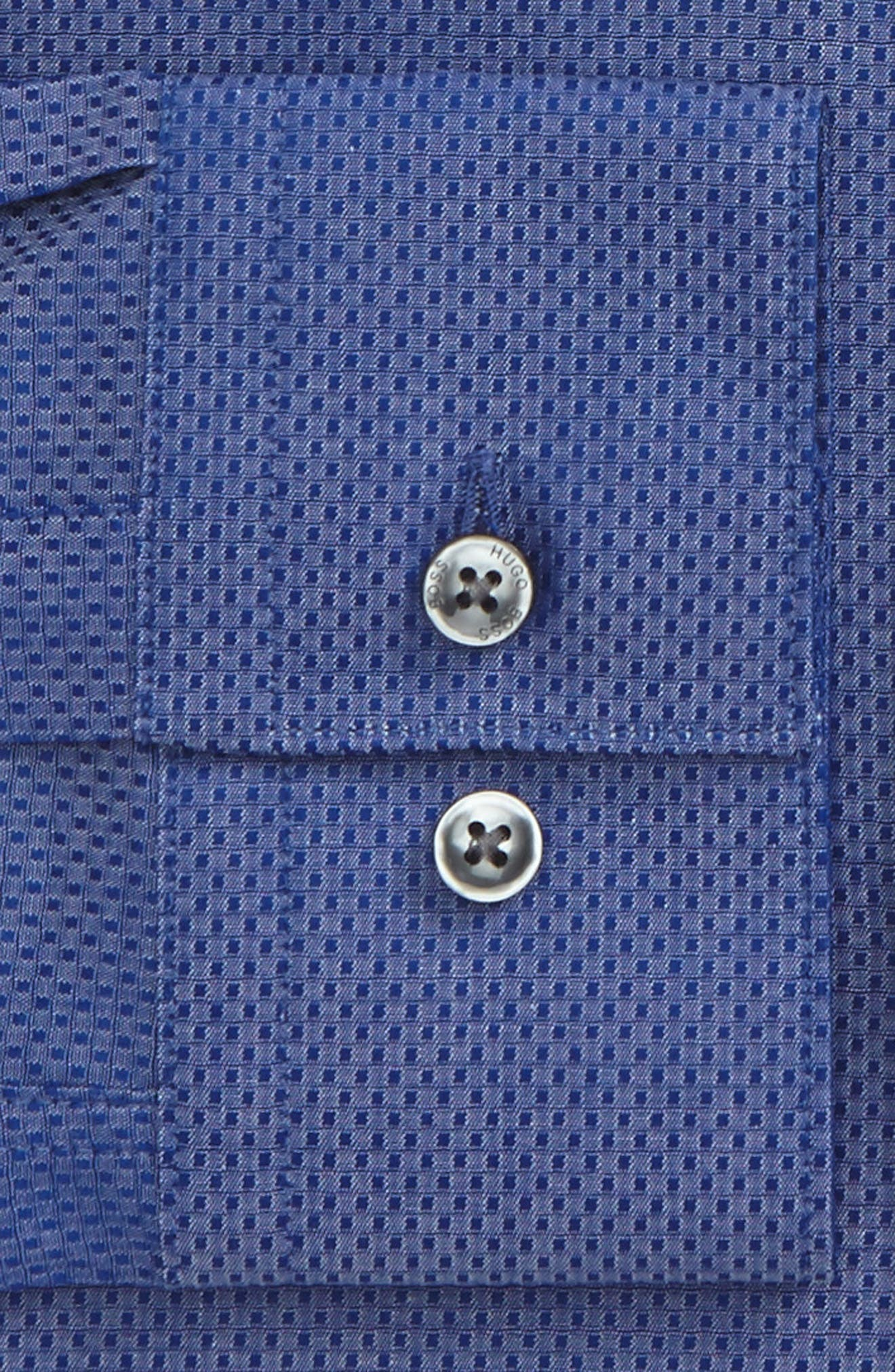 Isko Slim Fit Textured Dress Shirt,                             Alternate thumbnail 2, color,                             421