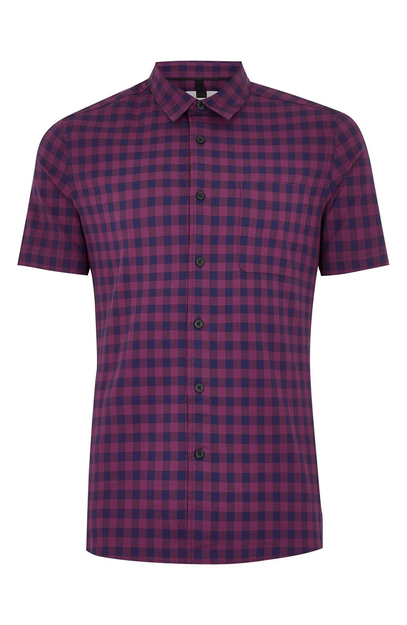 Gingham Shirt,                             Alternate thumbnail 4, color,                             400