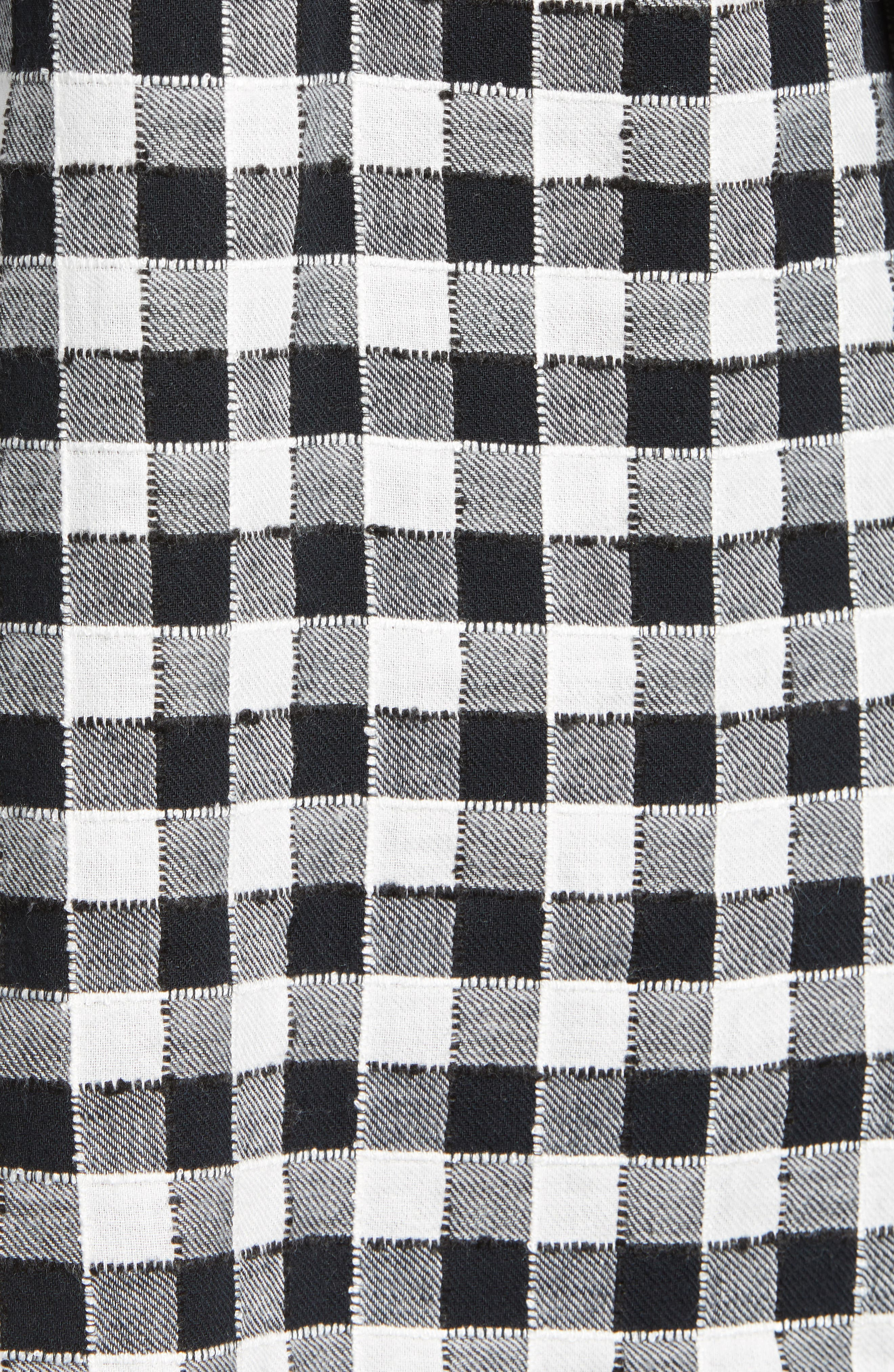 Checkered Button Down Shirt,                             Alternate thumbnail 5, color,                             001