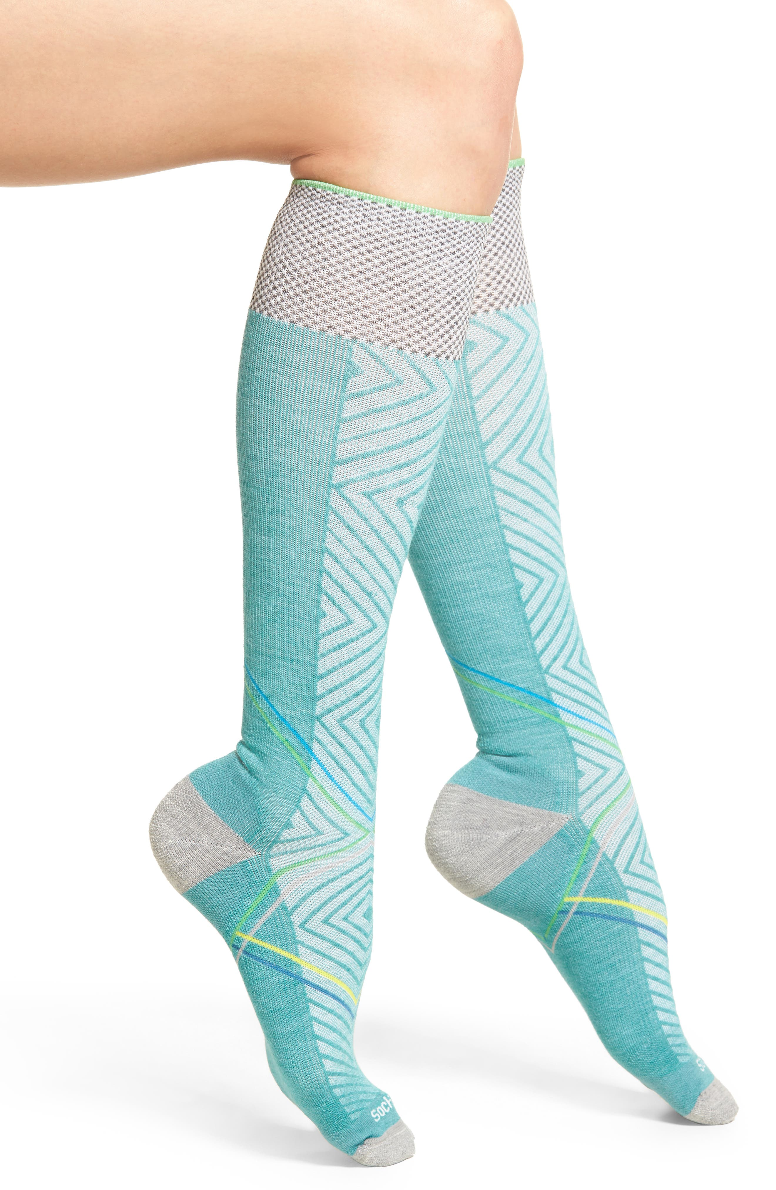 Pulse Compression Knee Socks,                         Main,                         color, 330
