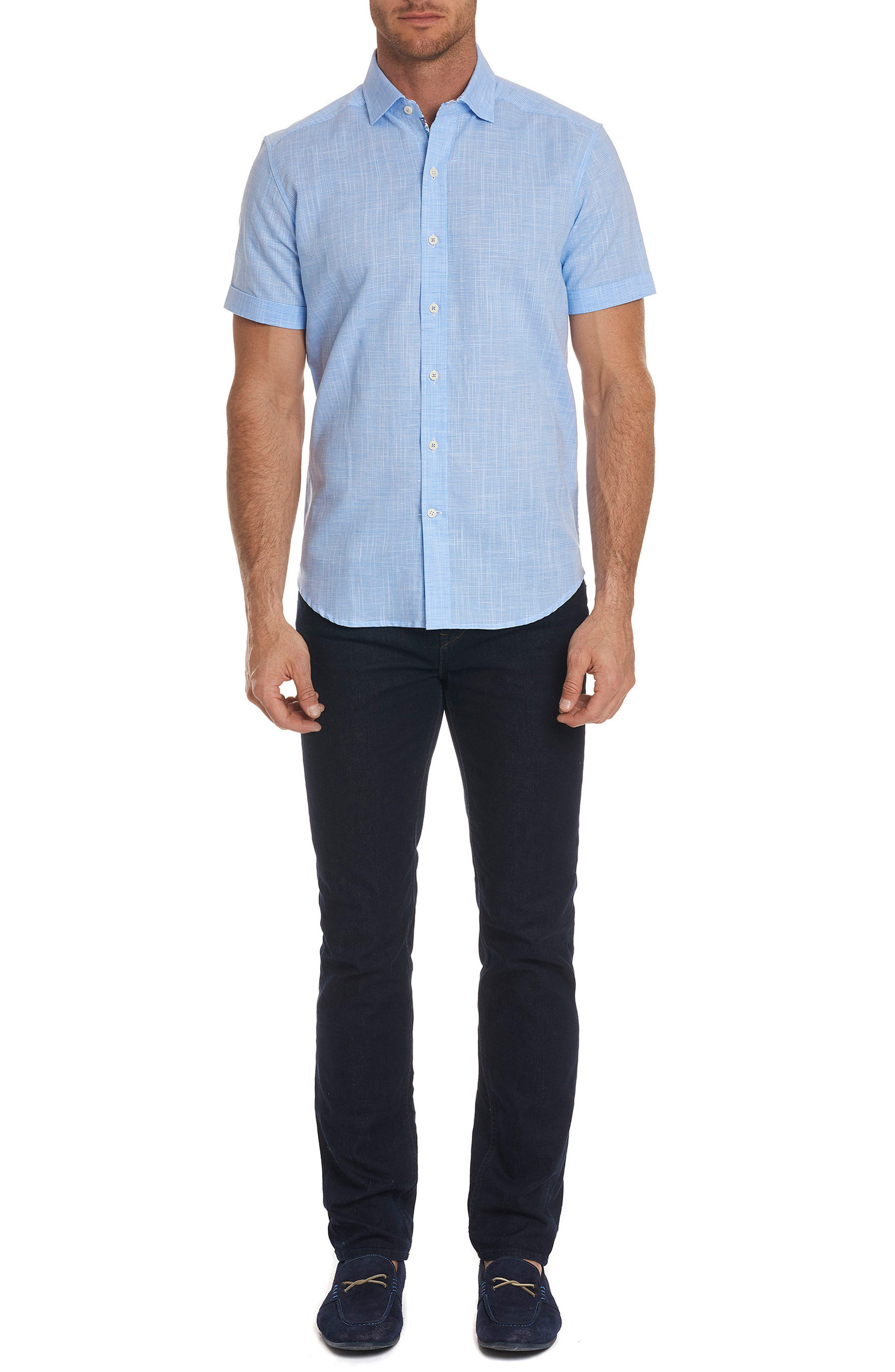 ROBERT GRAHAM,                             Isia Tailored Fit Sport Shirt,                             Alternate thumbnail 9, color,                             400