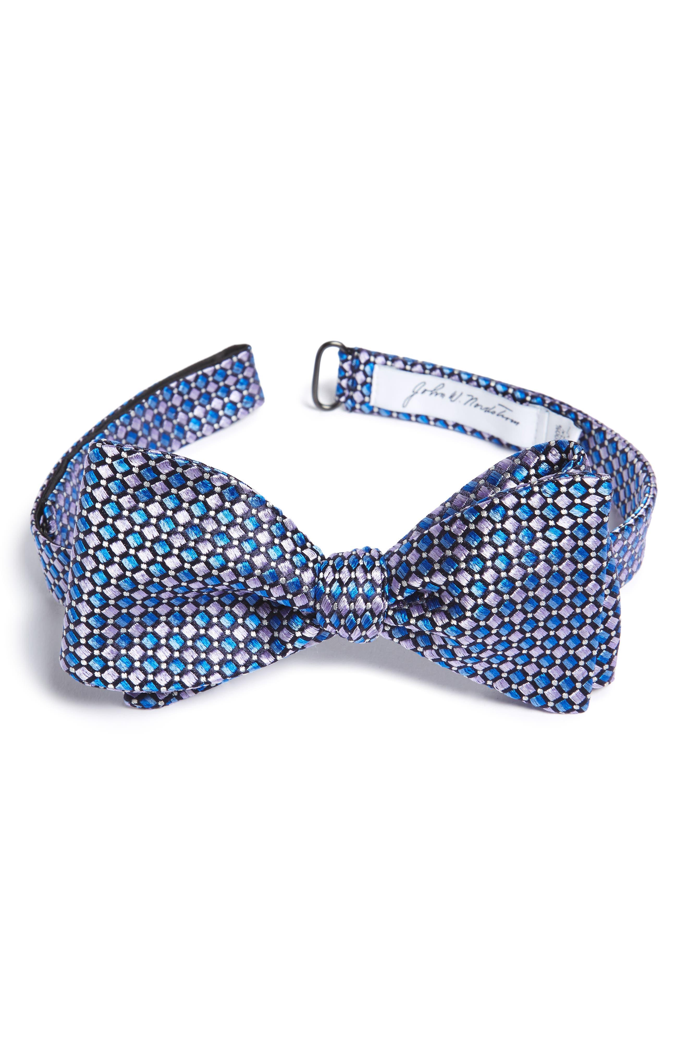 Geometric Silk Bow Tie,                             Main thumbnail 1, color,