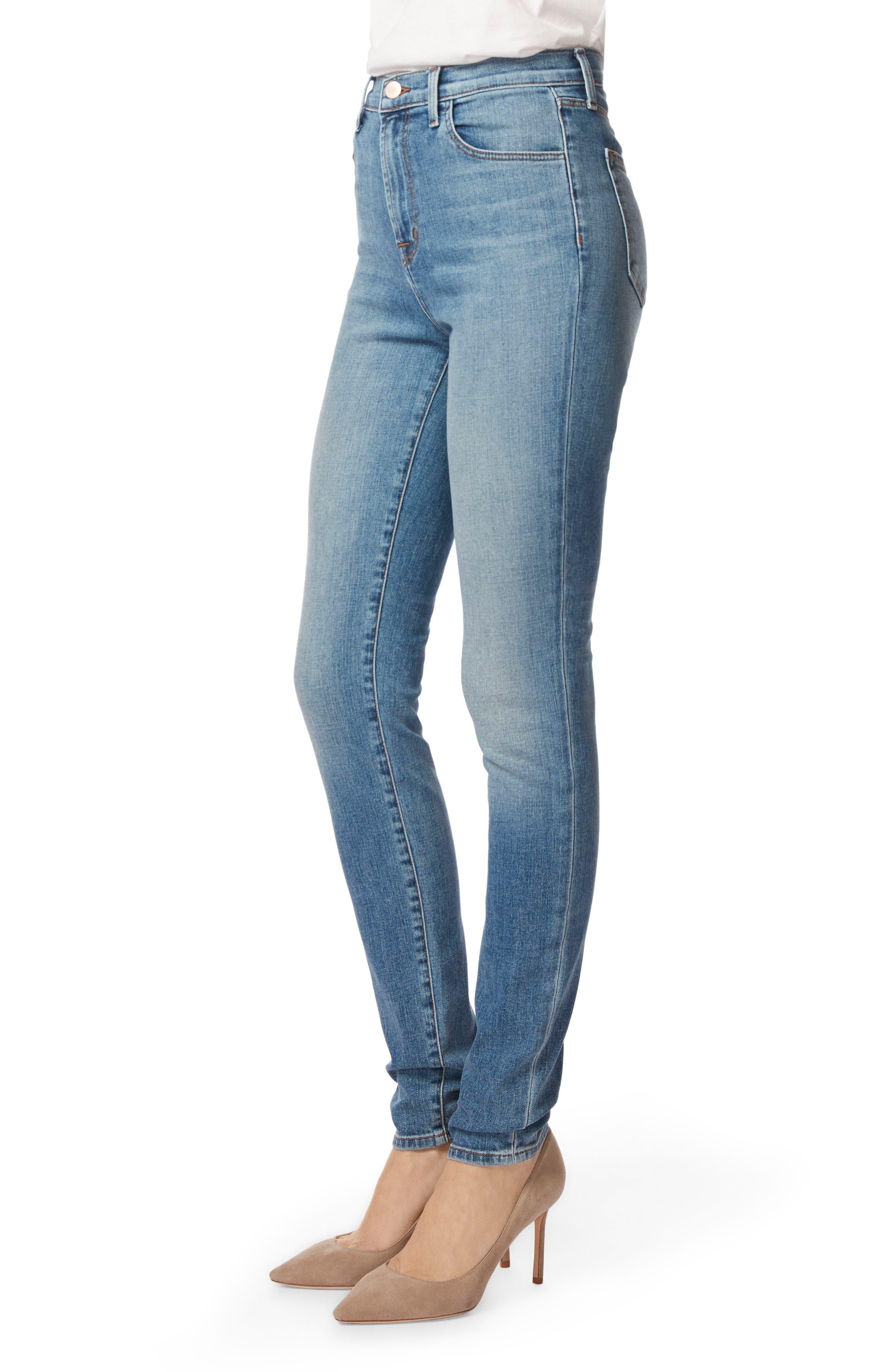 Carolina Super High Waist Skinny Jeans,                             Alternate thumbnail 3, color,                             400