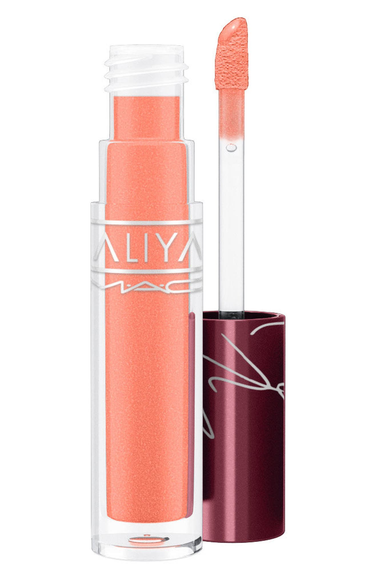 MAC Aaliyah Lipglass,                             Main thumbnail 1, color,                             LI LIS MOTOR CITY