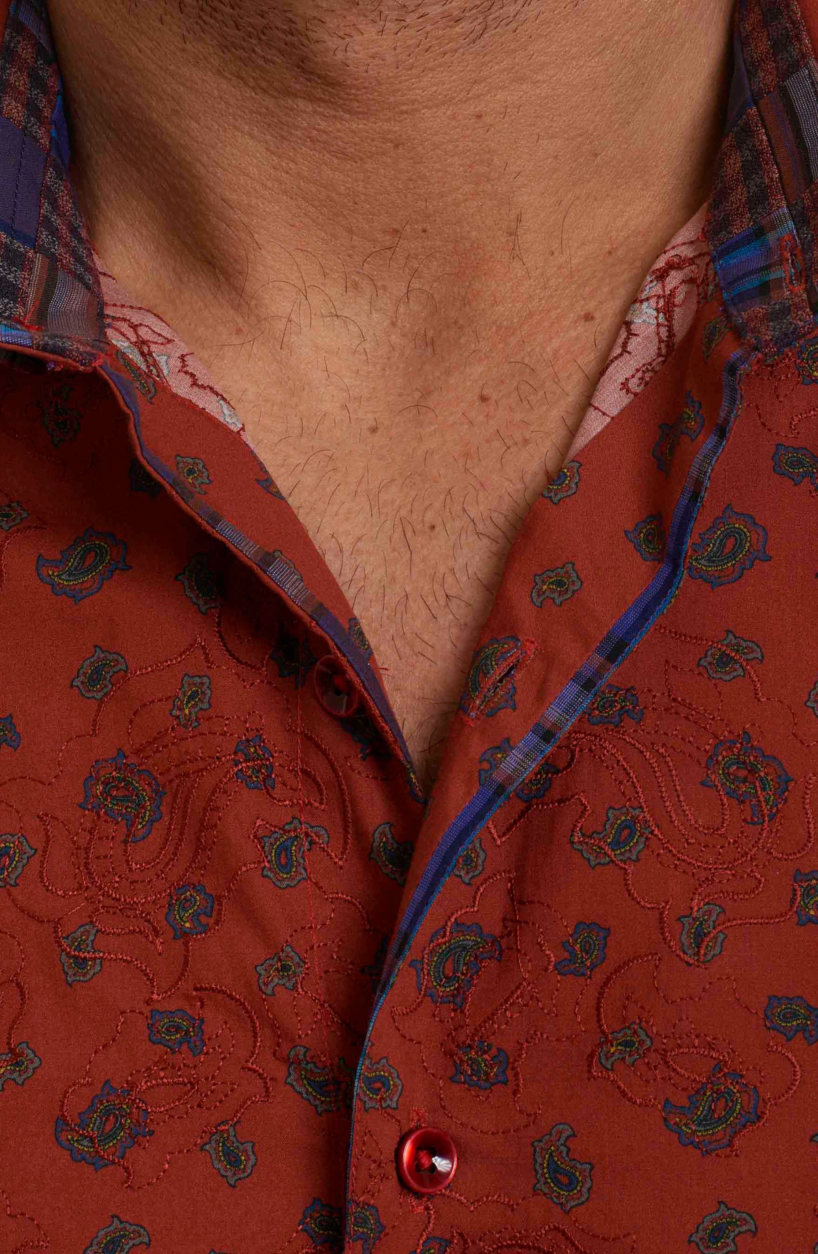 Cold Spring Classic Fit Paisley Sport Shirt,                             Alternate thumbnail 14, color,