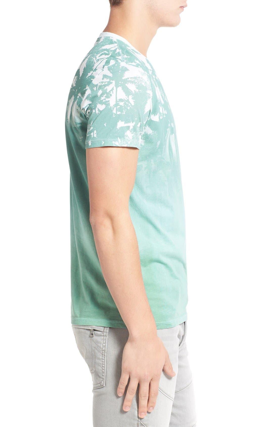 'Lost' Shadow Palm Print Crewneck T-Shirt,                             Alternate thumbnail 6, color,