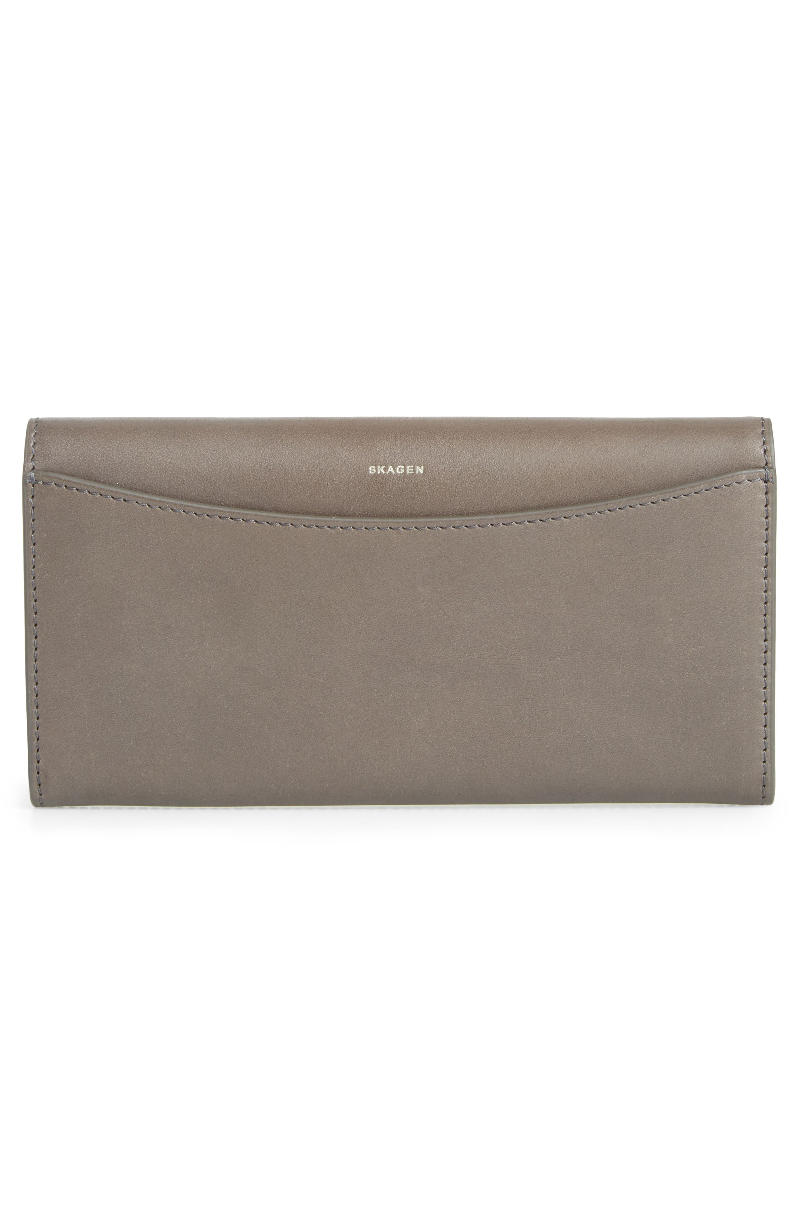 Leather Continental Flap Wallet,                             Alternate thumbnail 3, color,                             020
