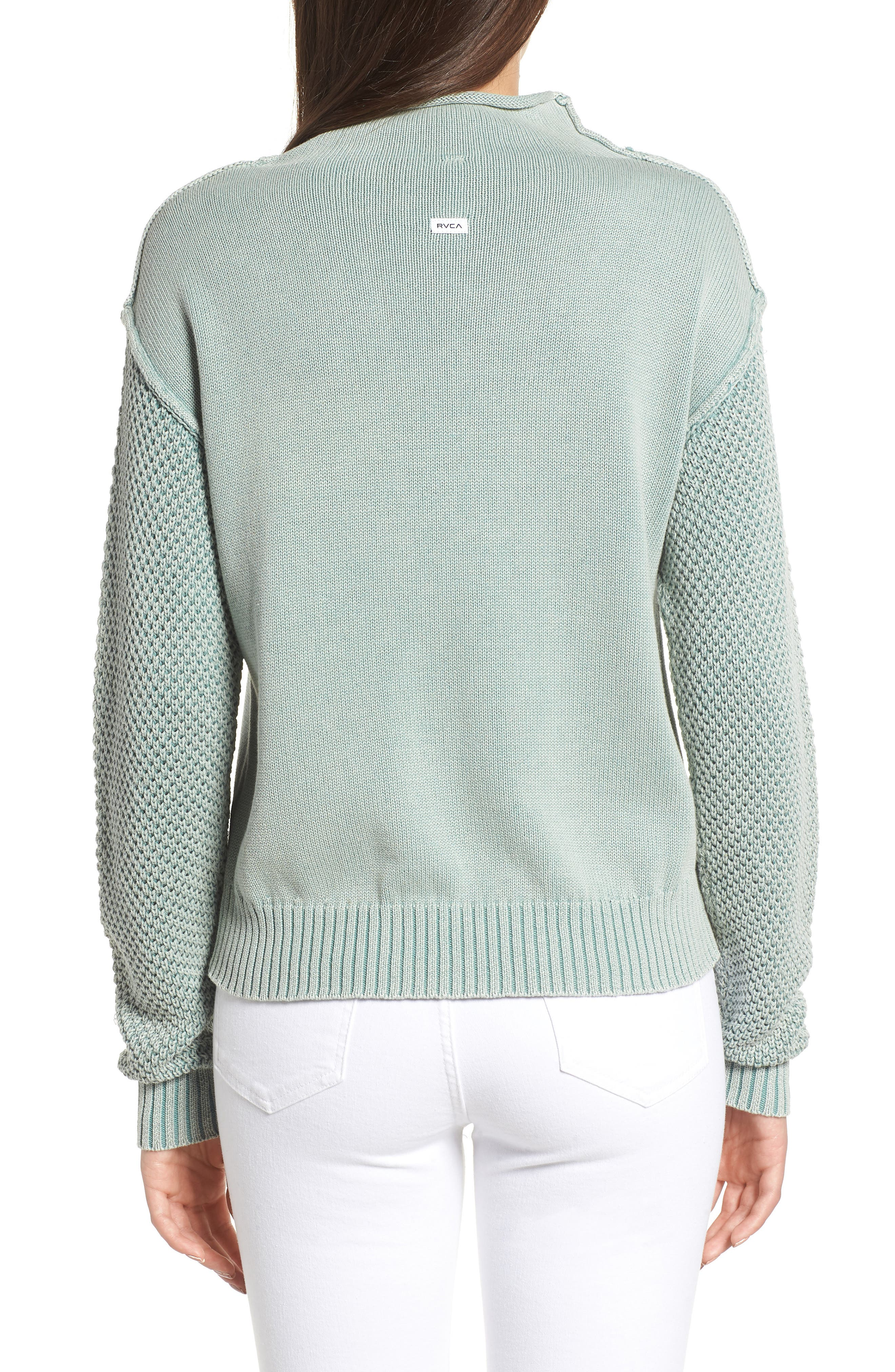 Exposed Seam Sweater,                             Alternate thumbnail 2, color,                             SEA WASH