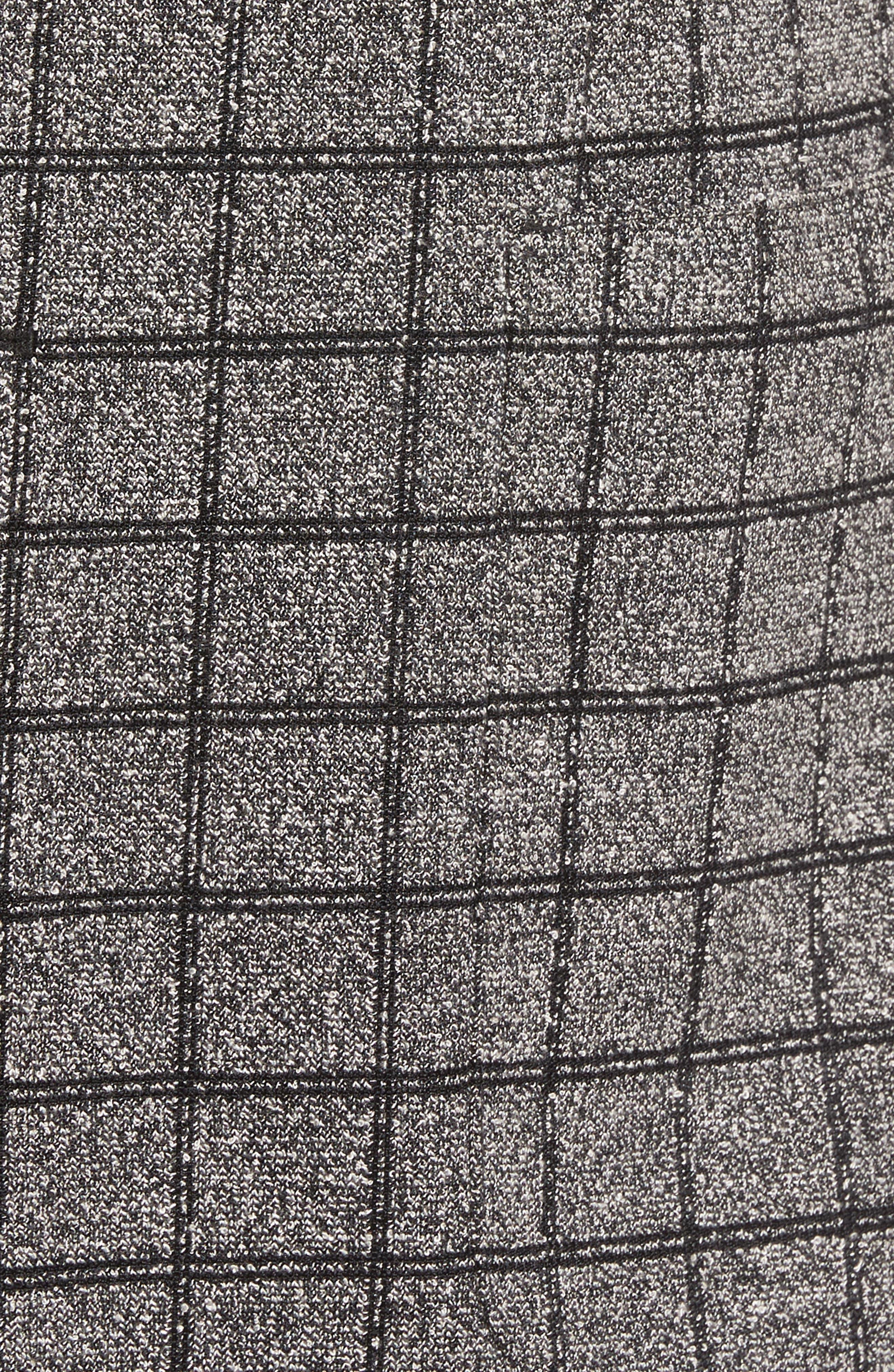 Del Aria Slim Fit Check Knit Jacket,                             Alternate thumbnail 6, color,                             020