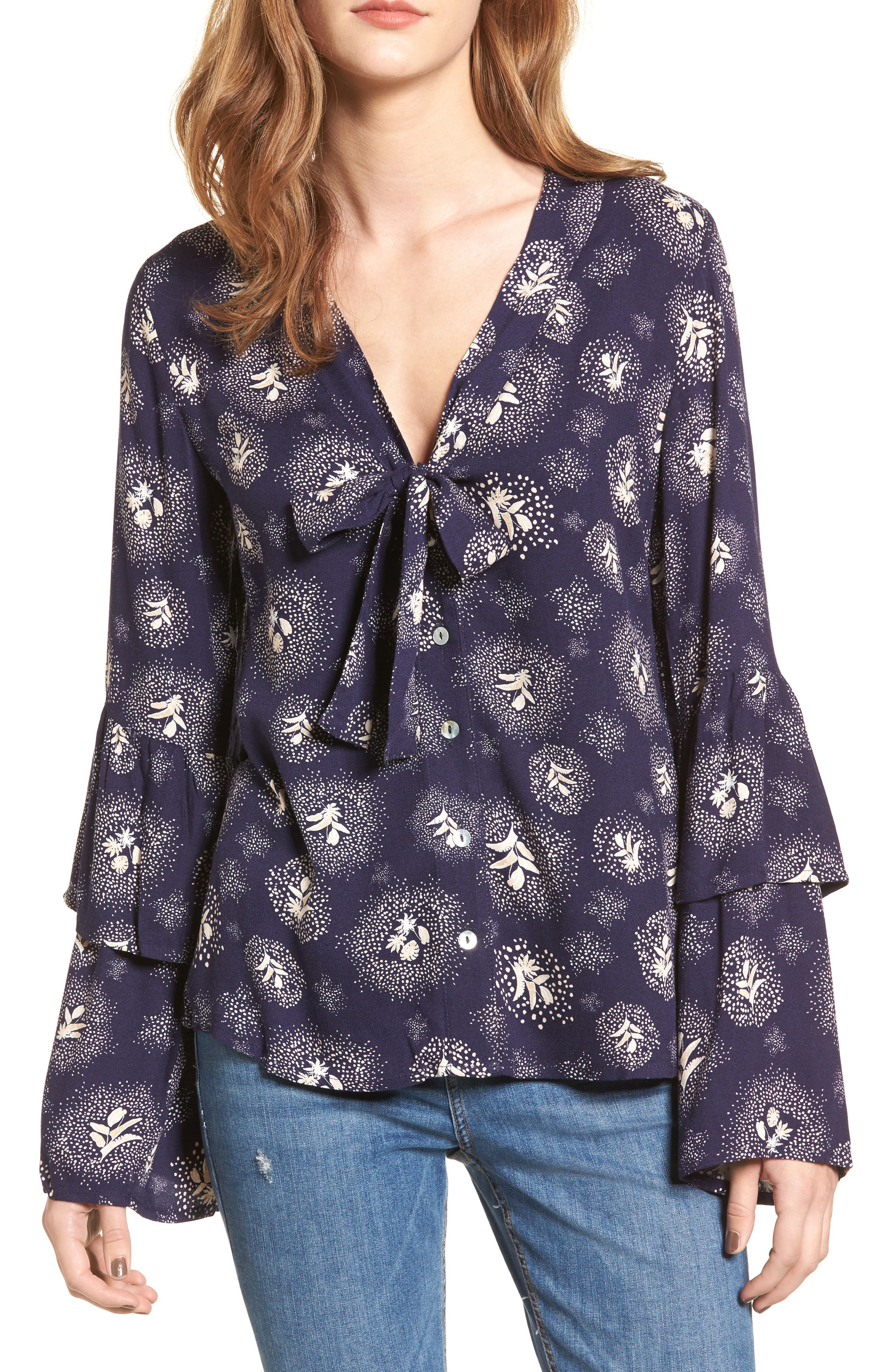 Glimmering Nights Blouse,                             Main thumbnail 1, color,                             400