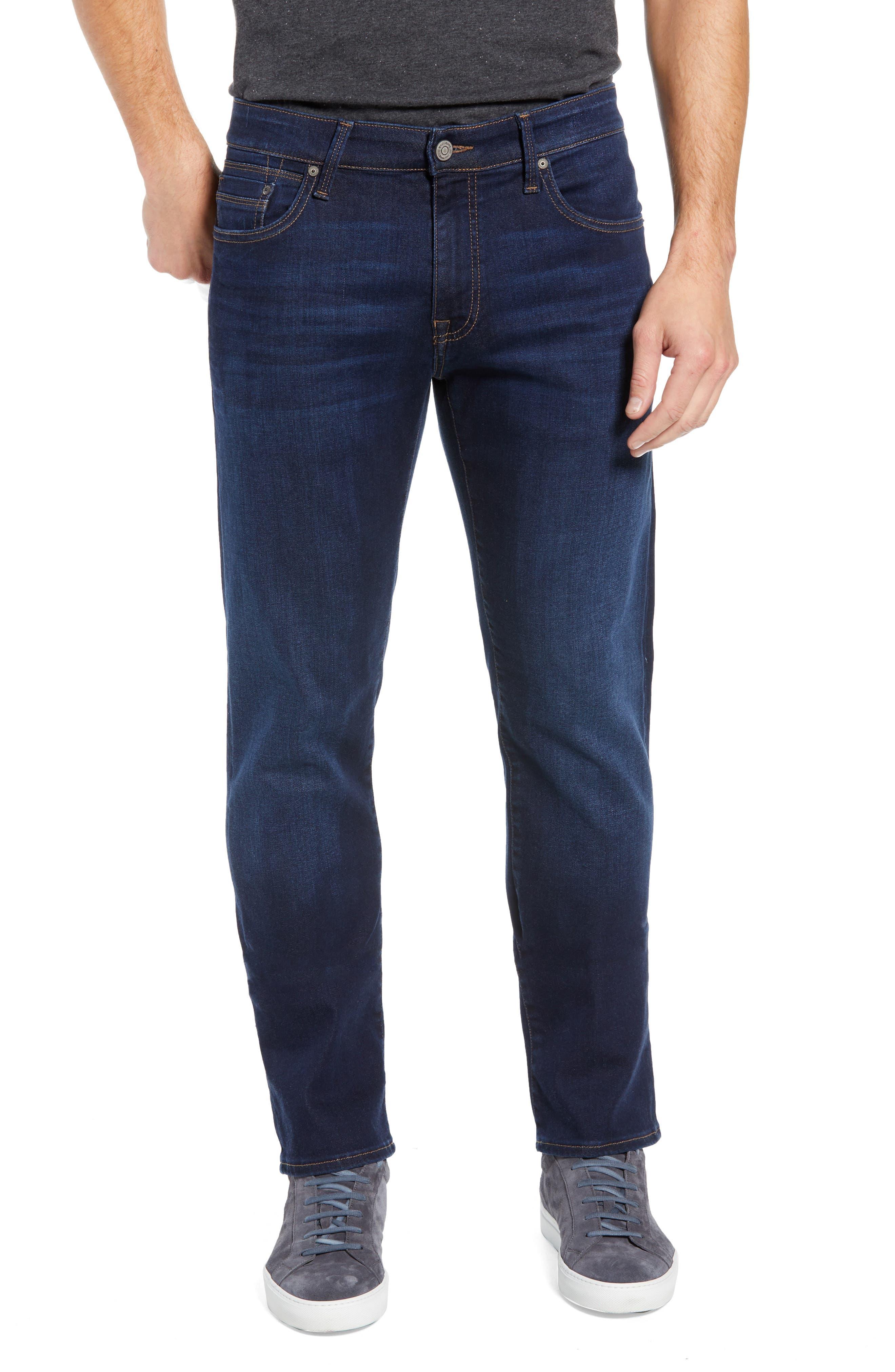 Zach Straight Leg Jeans,                         Main,                         color, DEEP SOFT MOVE