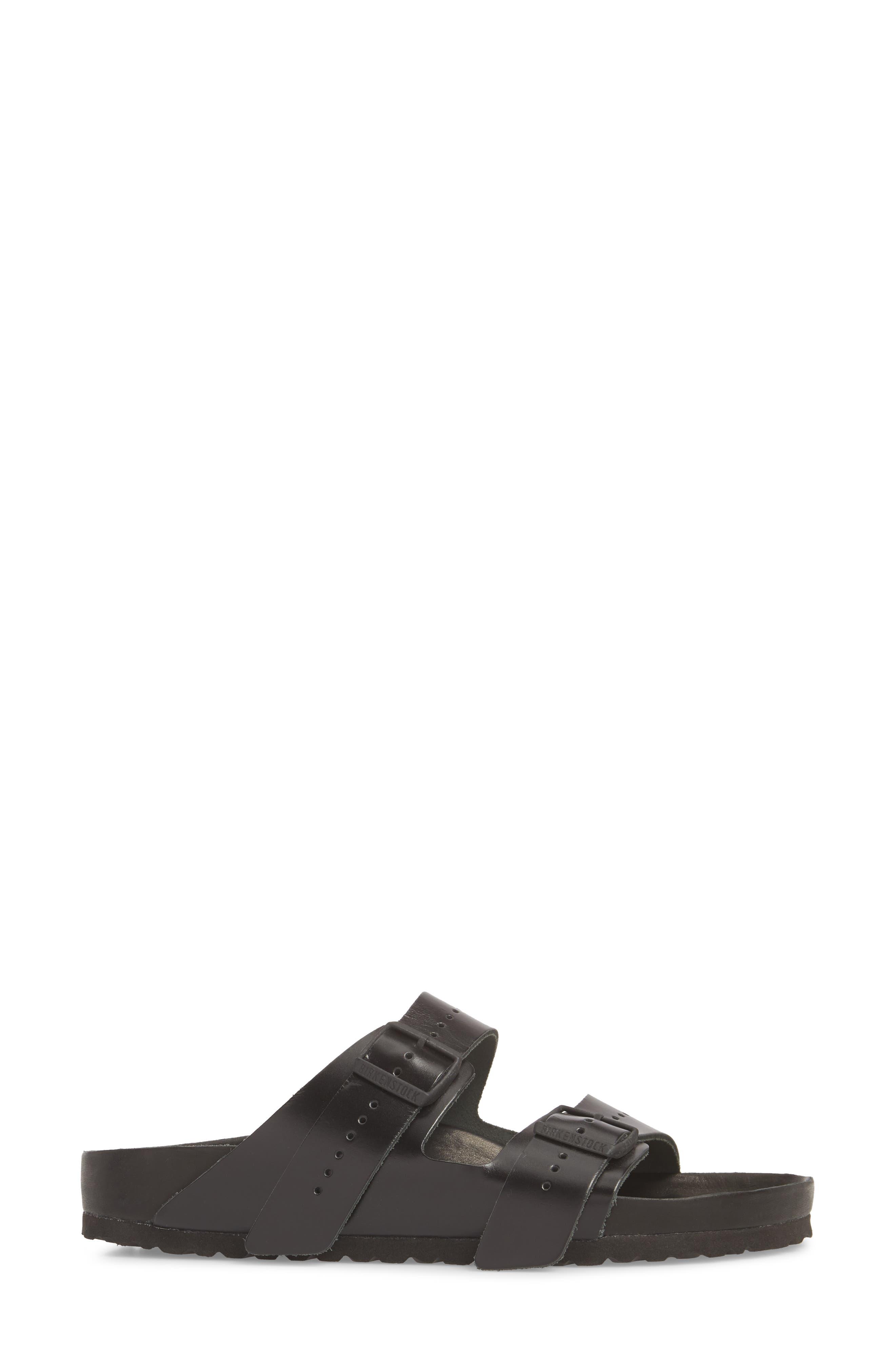 Rick Owens x Birkenstock Arizona Sandal,                             Alternate thumbnail 3, color,                             BLACK/ BLACK