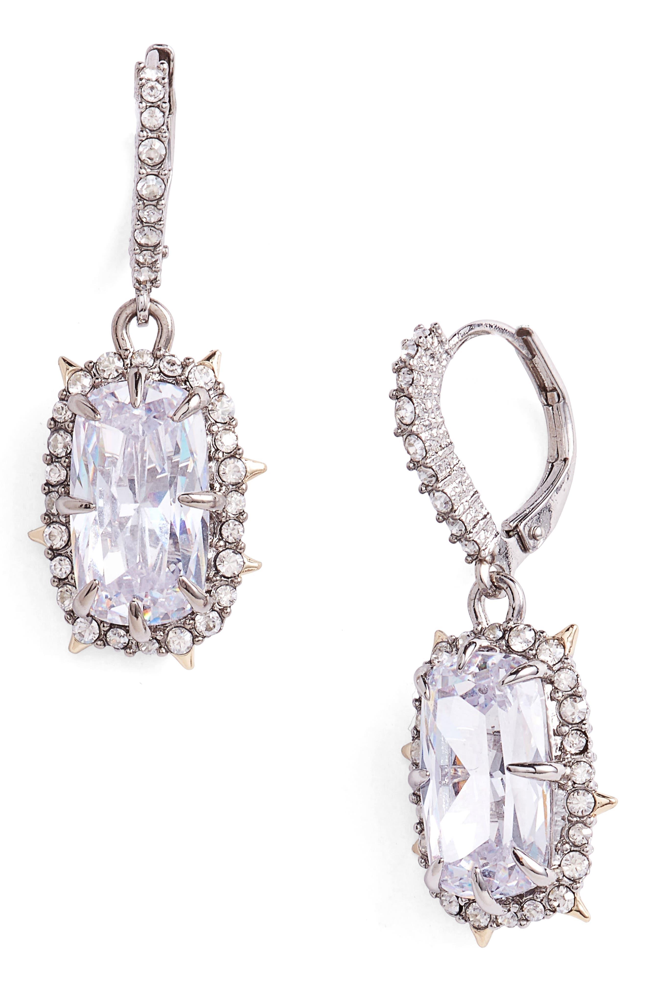 Swarovski Crystal Drop Earrings,                             Main thumbnail 1, color,                             GOLD