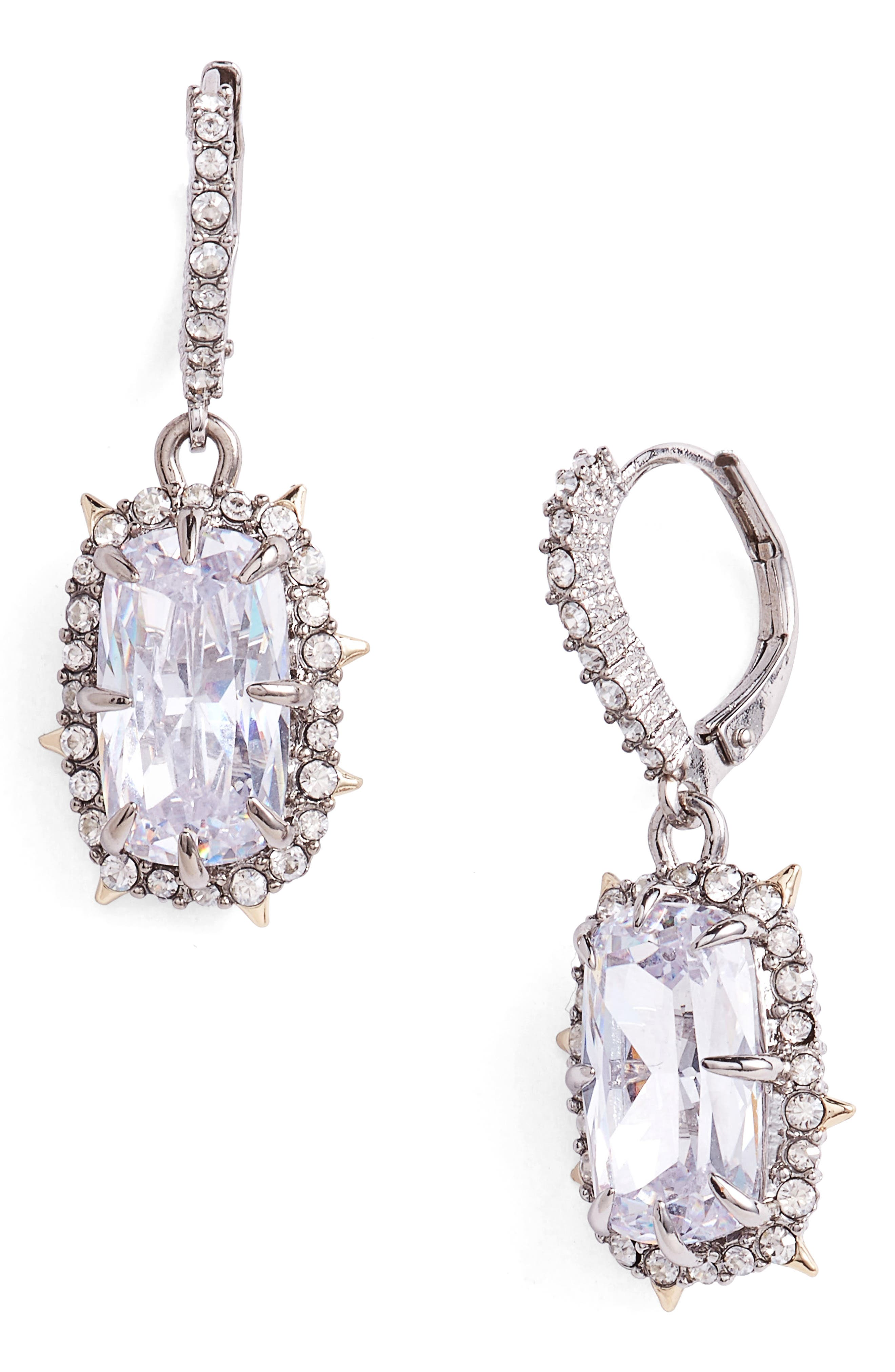 Swarovski Crystal Drop Earrings,                         Main,                         color, GOLD