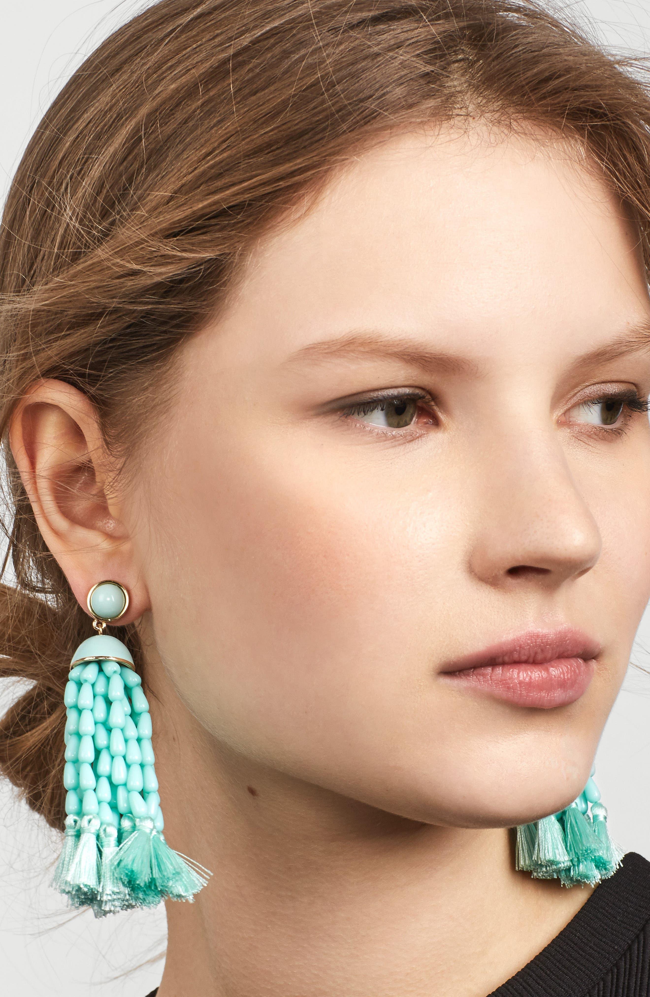 Margarita Beaded Tassel Earrings,                             Alternate thumbnail 2, color,                             410