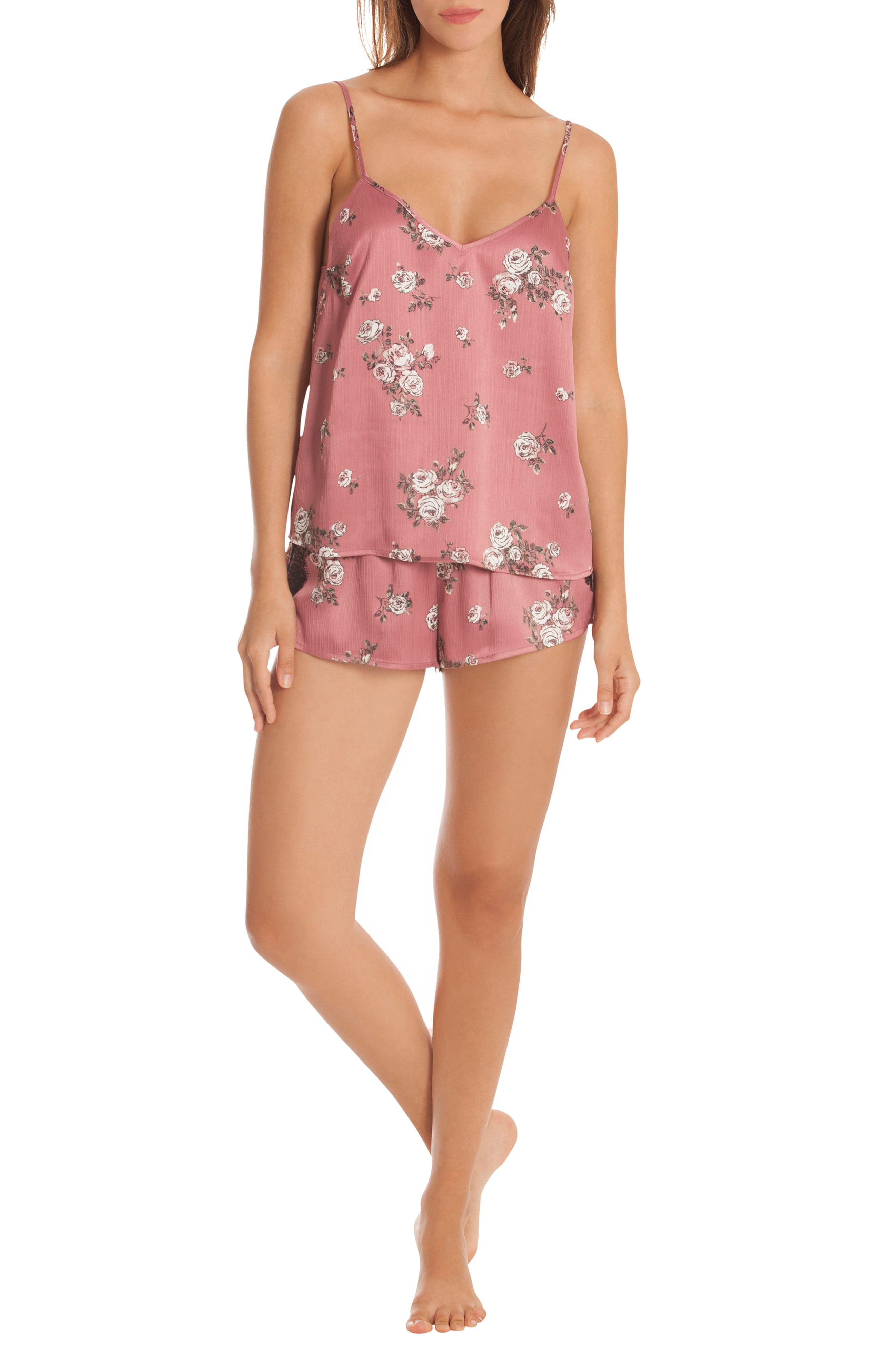Tegan Short Pajamas,                             Alternate thumbnail 7, color,                             ROSE