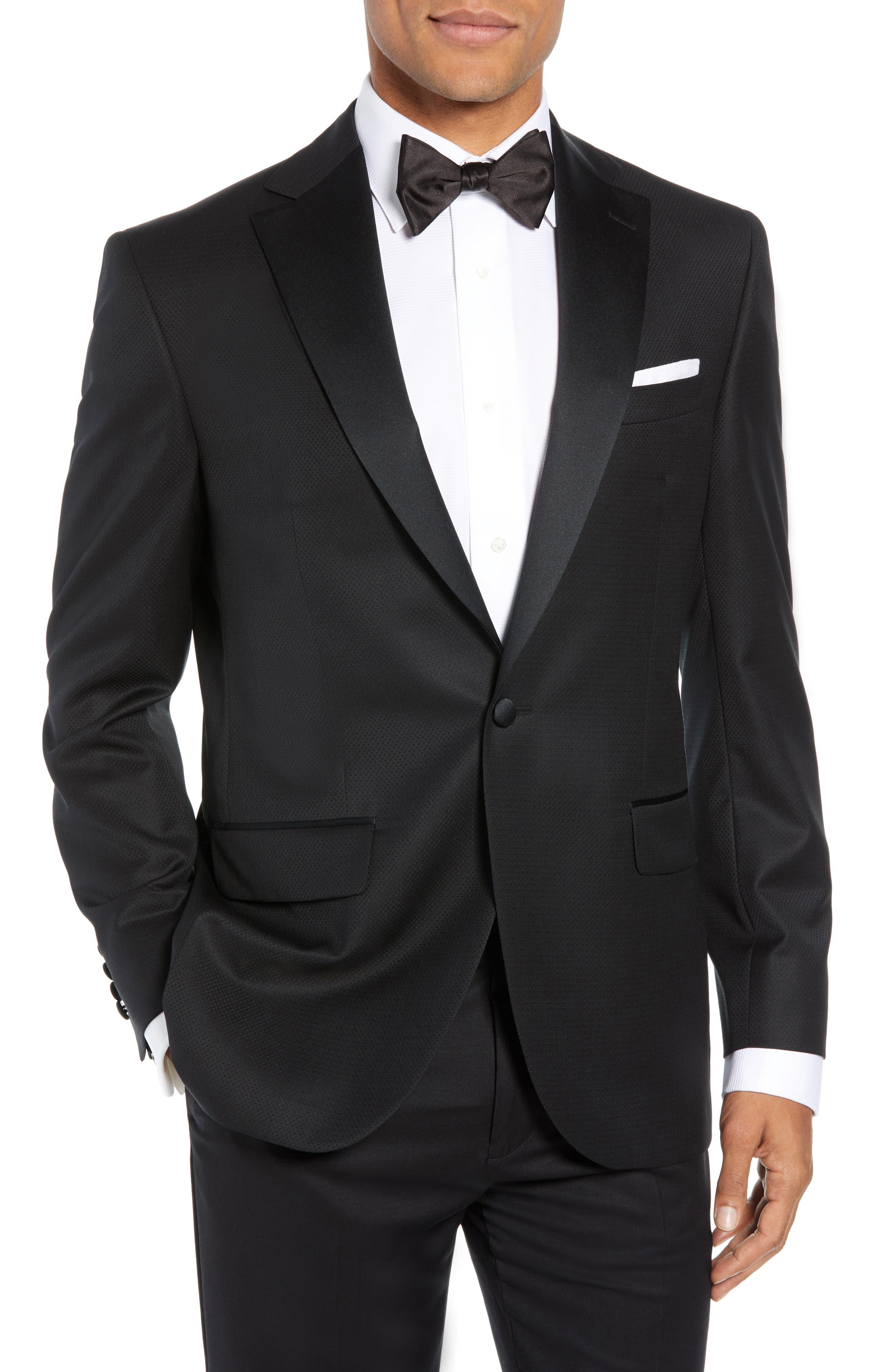 Reed Wool Dinner Jacket,                         Main,                         color, BLACK
