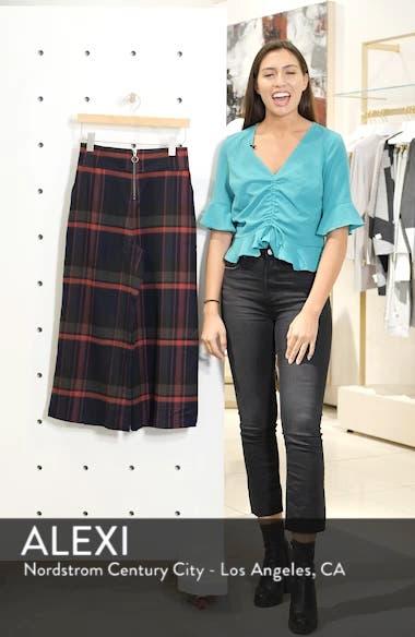High Rise Plaid Crop Pants, sales video thumbnail