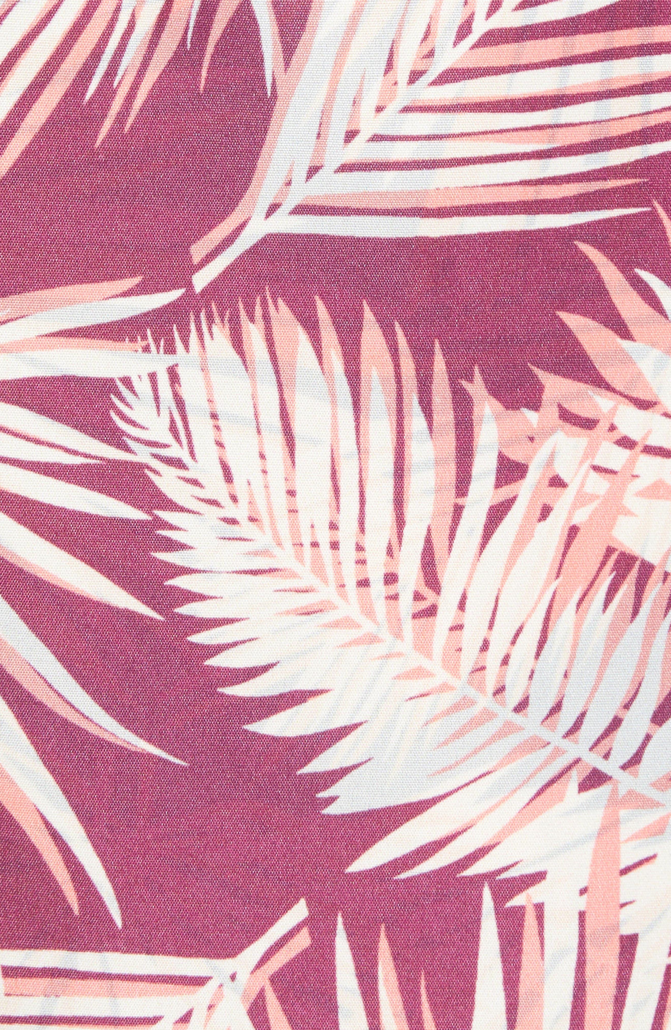Bommie Reversible Swim Trunks,                             Alternate thumbnail 5, color,                             RED