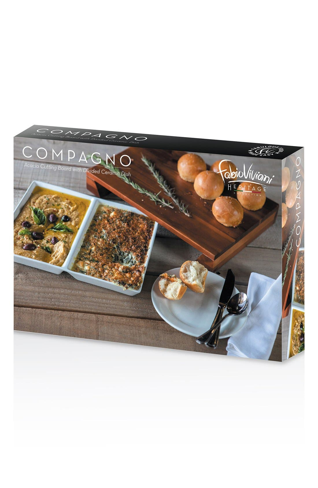 'Legacy Heritage Collection by Fabio Viviani - Compagno' Cutting Board,                             Alternate thumbnail 4, color,                             BROWN
