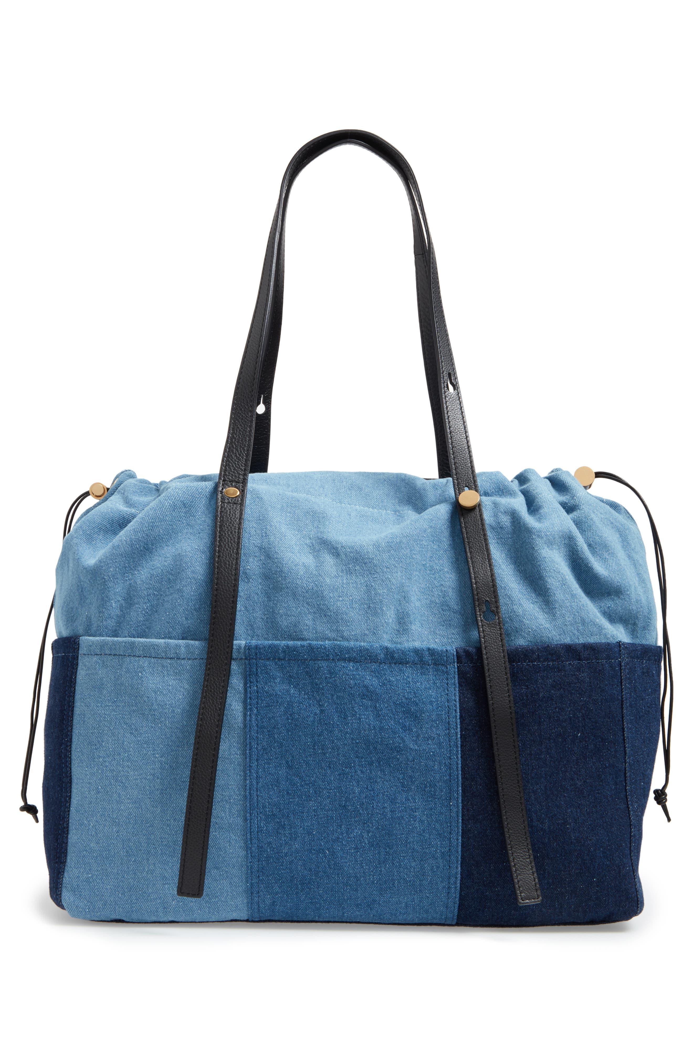 Denim Diaper Bag,                             Alternate thumbnail 3, color,                             460