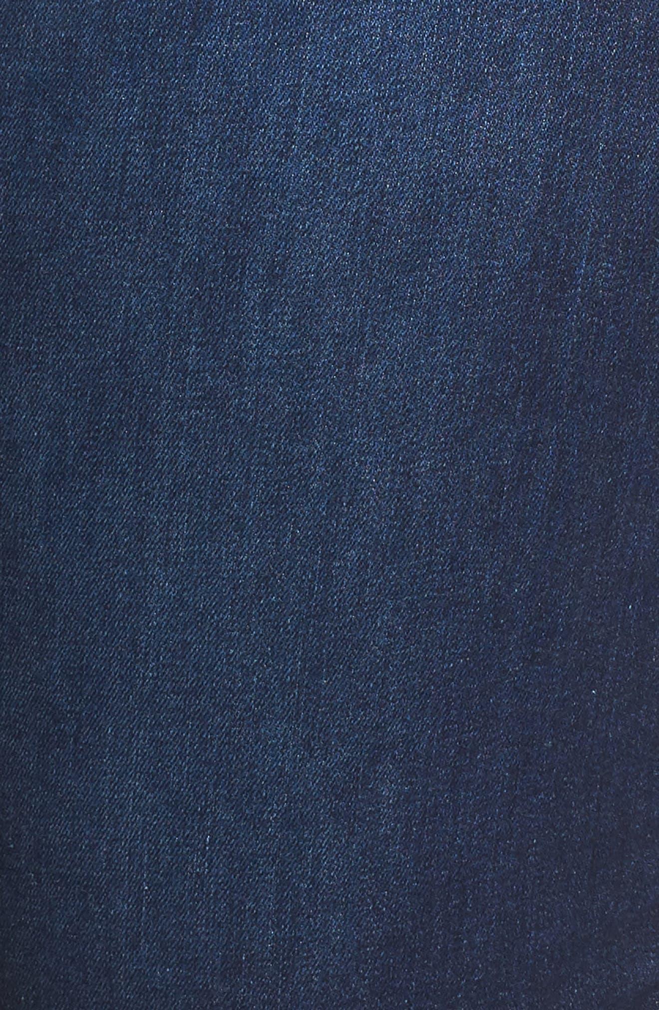 Briella Fray Hem Denim Bermuda Shorts,                             Alternate thumbnail 9, color,
