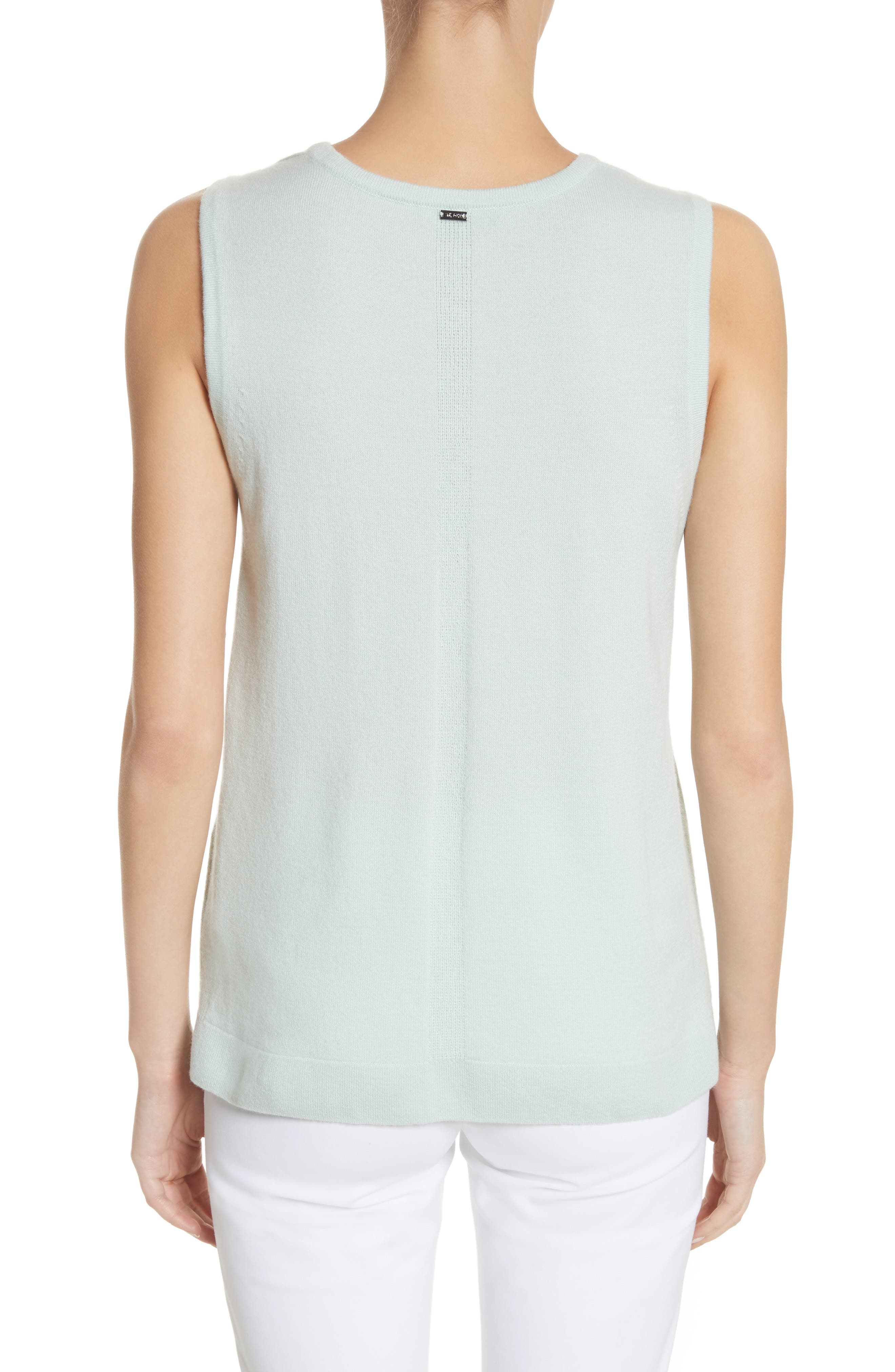 Cashmere Jersey Shell,                             Alternate thumbnail 2, color,
