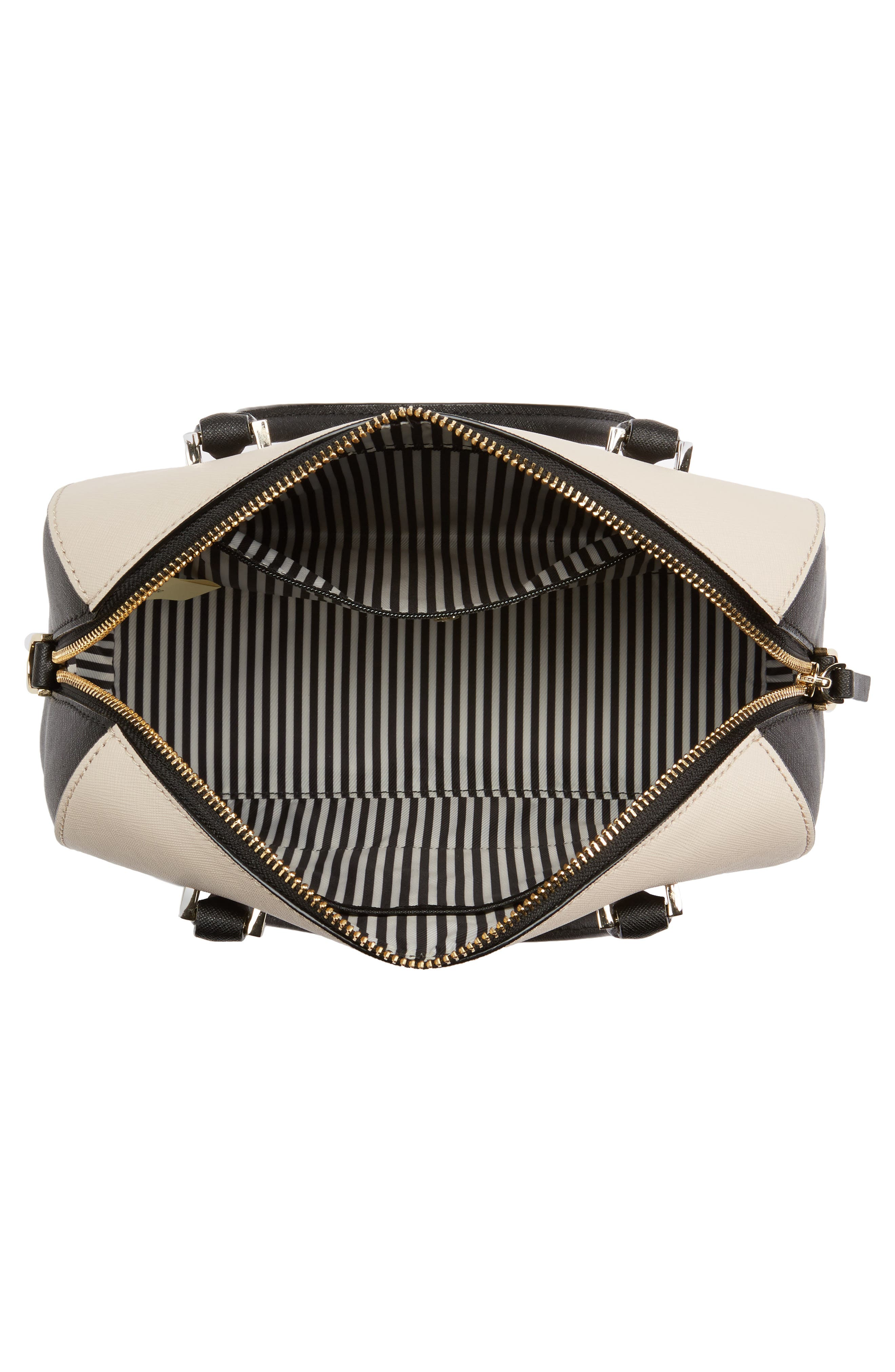 cameron street large lane leather satchel,                             Alternate thumbnail 4, color,                             005