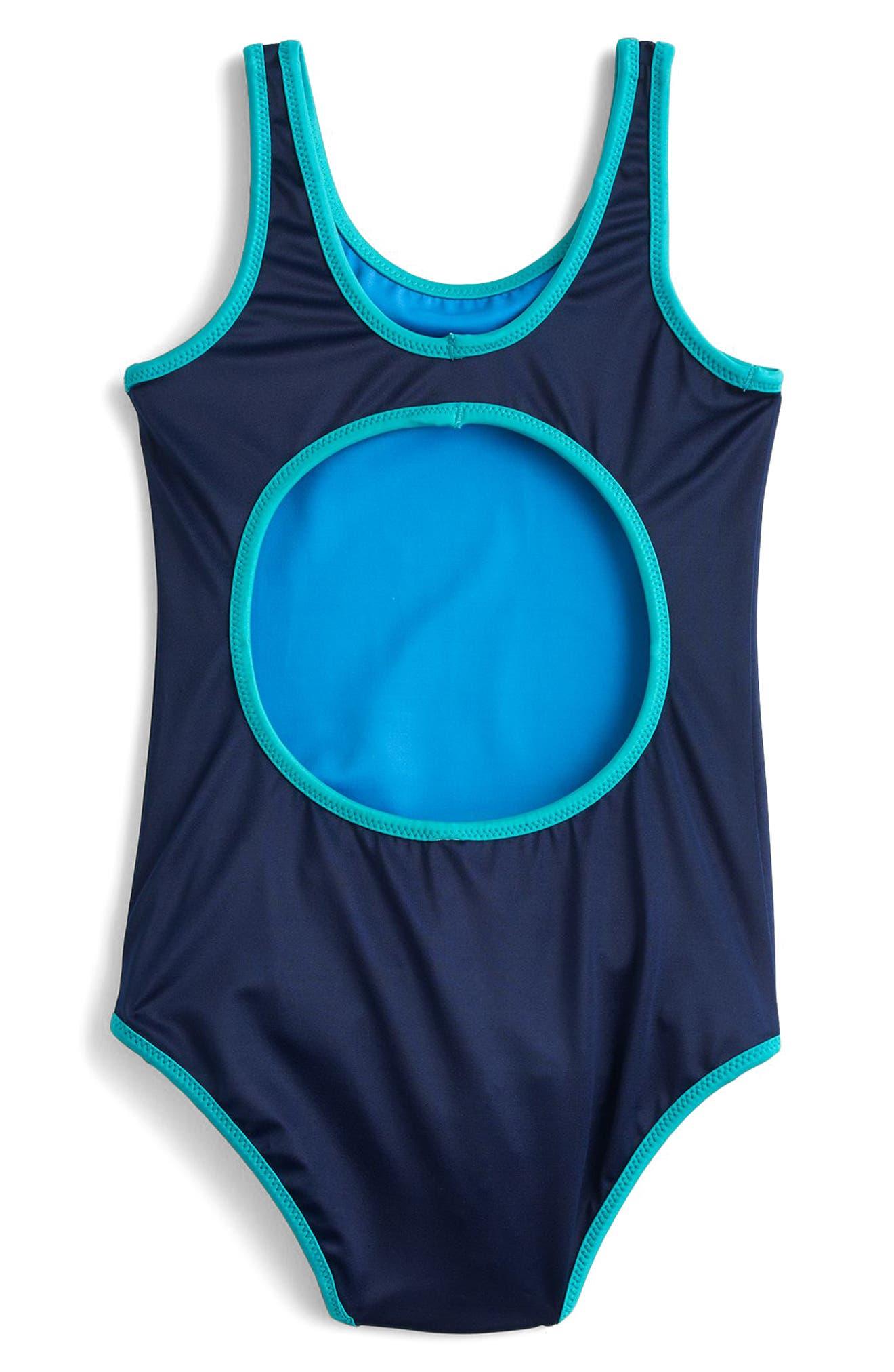 Reversible One-Piece Swimsuit,                             Alternate thumbnail 4, color,                             401
