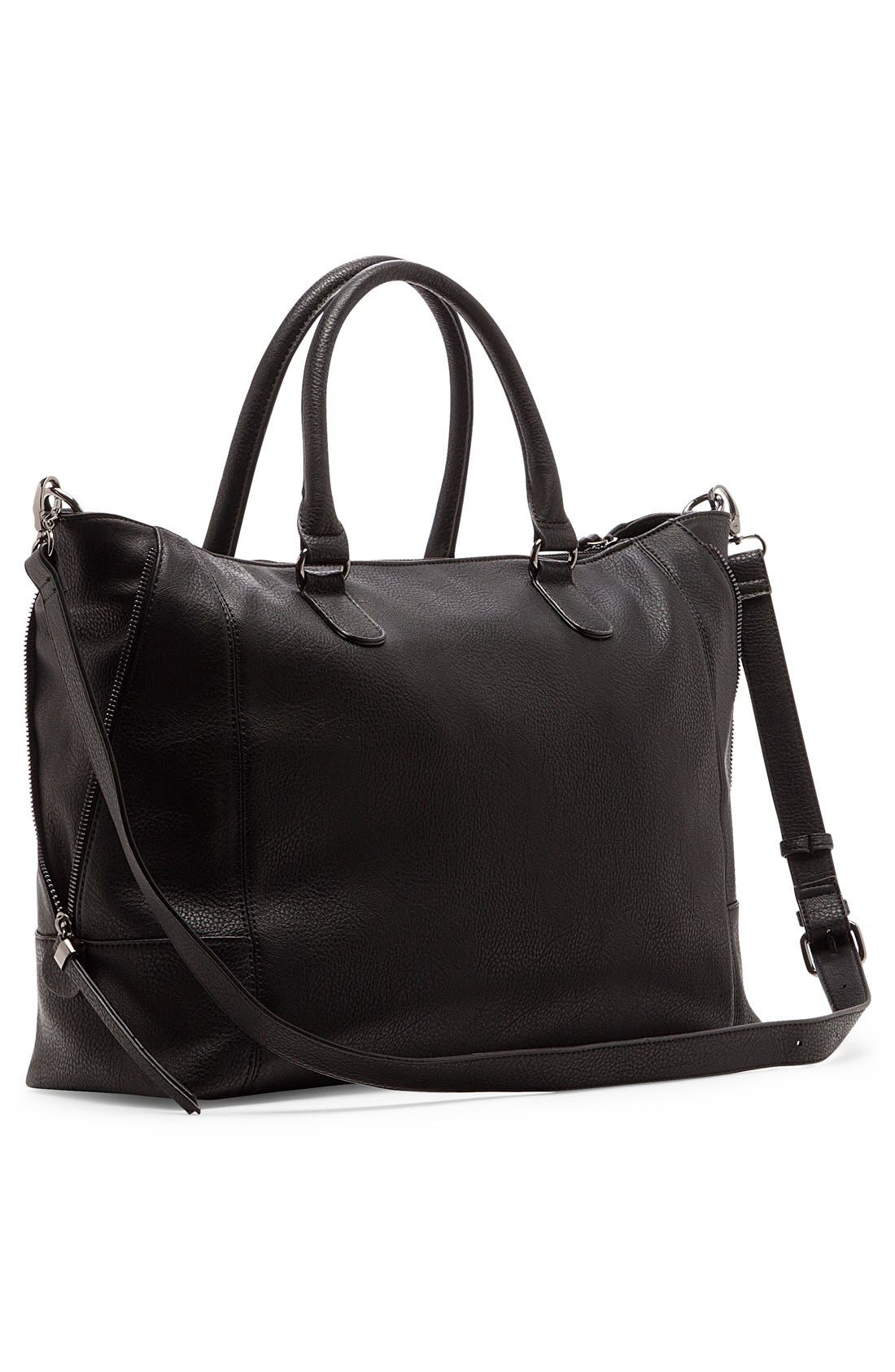 'Susan' Winged Faux Leather Tote,                             Alternate thumbnail 11, color,