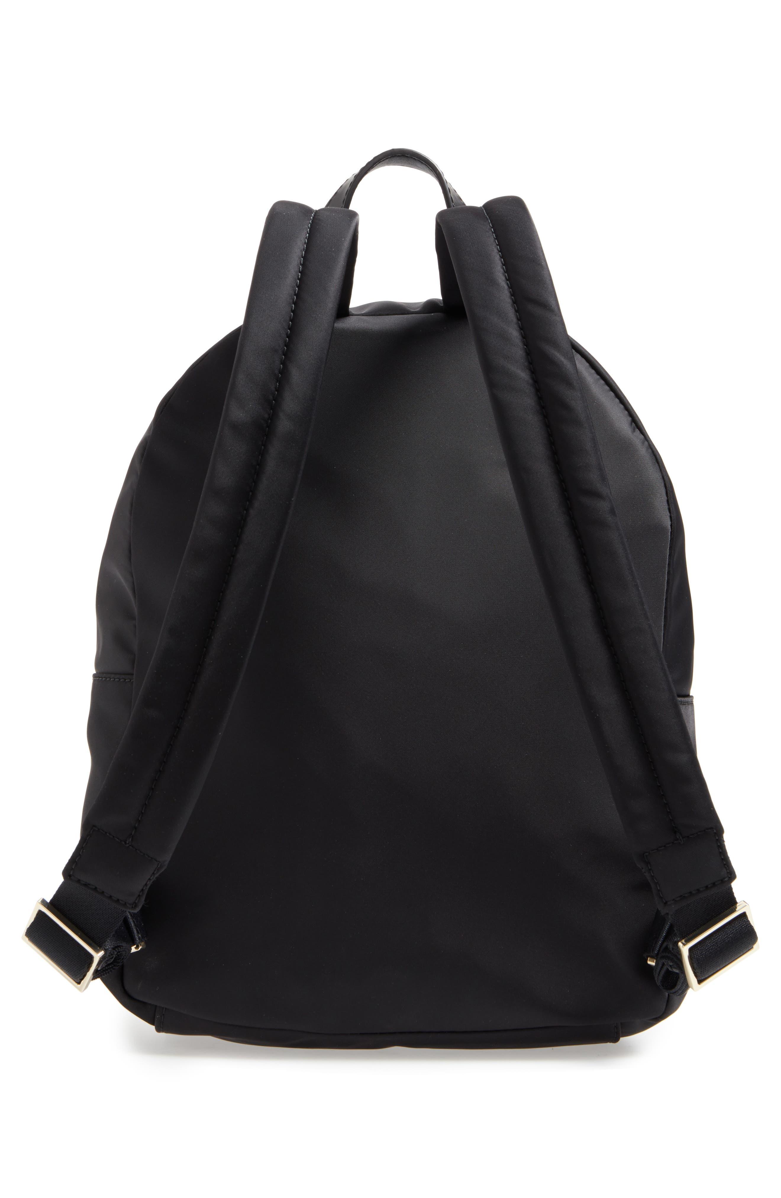 watson lane - hartley nylon backpack,                             Alternate thumbnail 3, color,                             BLACK